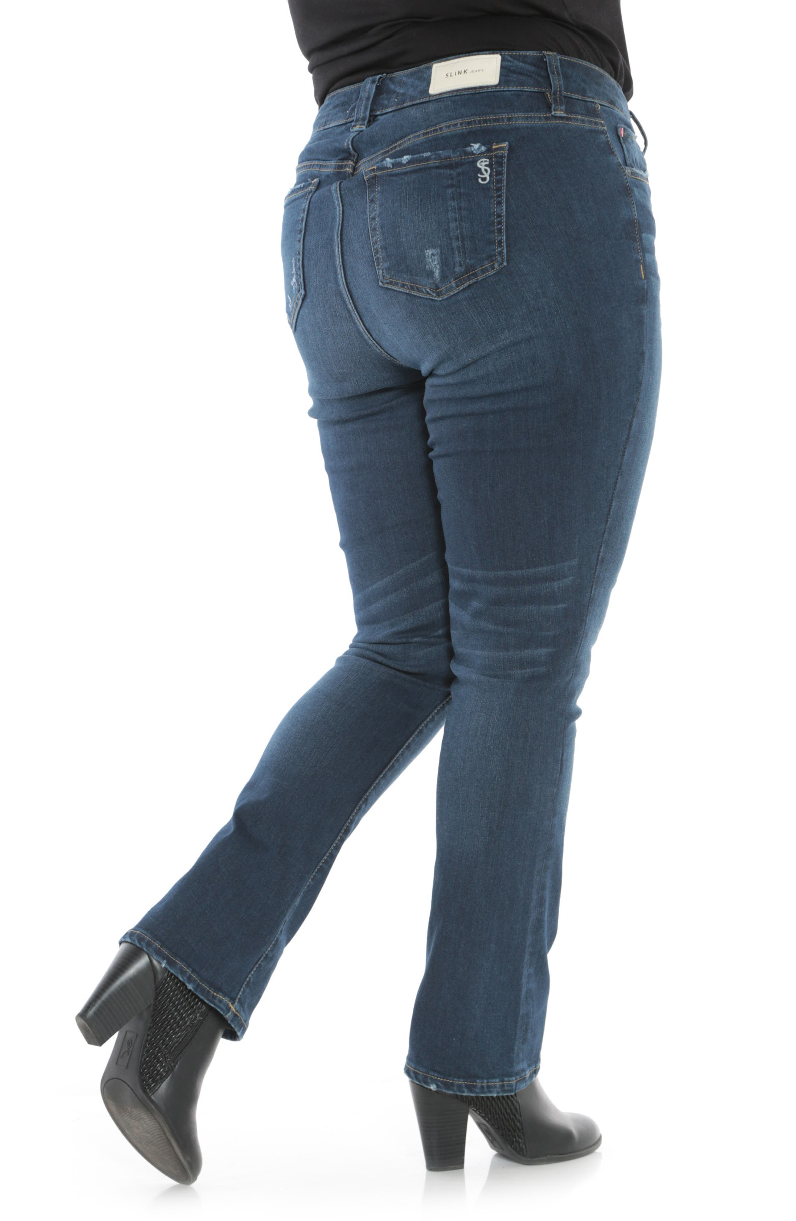 High Waist Crop Bootcut Jeans,                             Alternate thumbnail 2, color,                             SHEELA