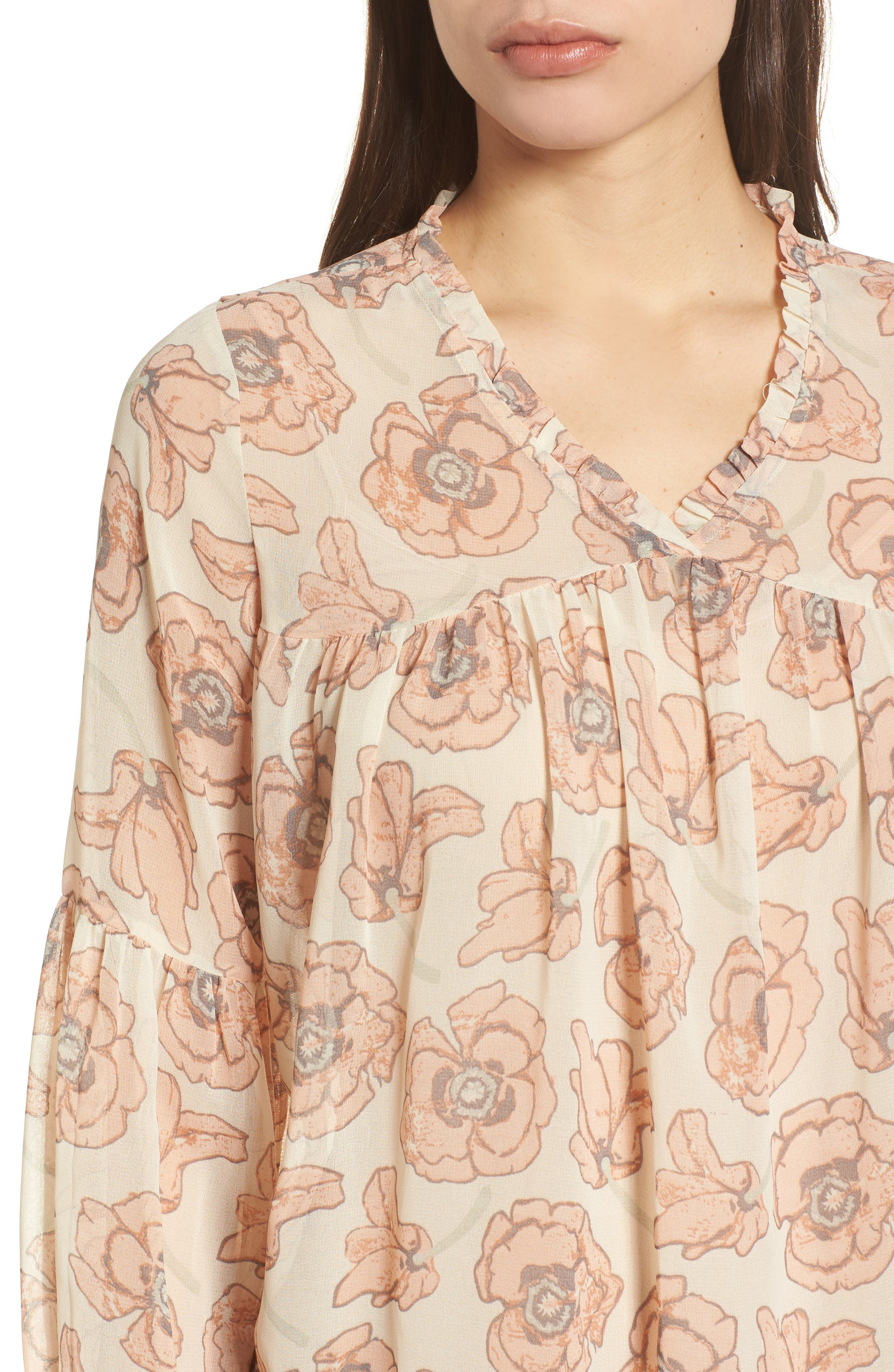 Exploded Floral Top,                             Alternate thumbnail 4, color,                             690