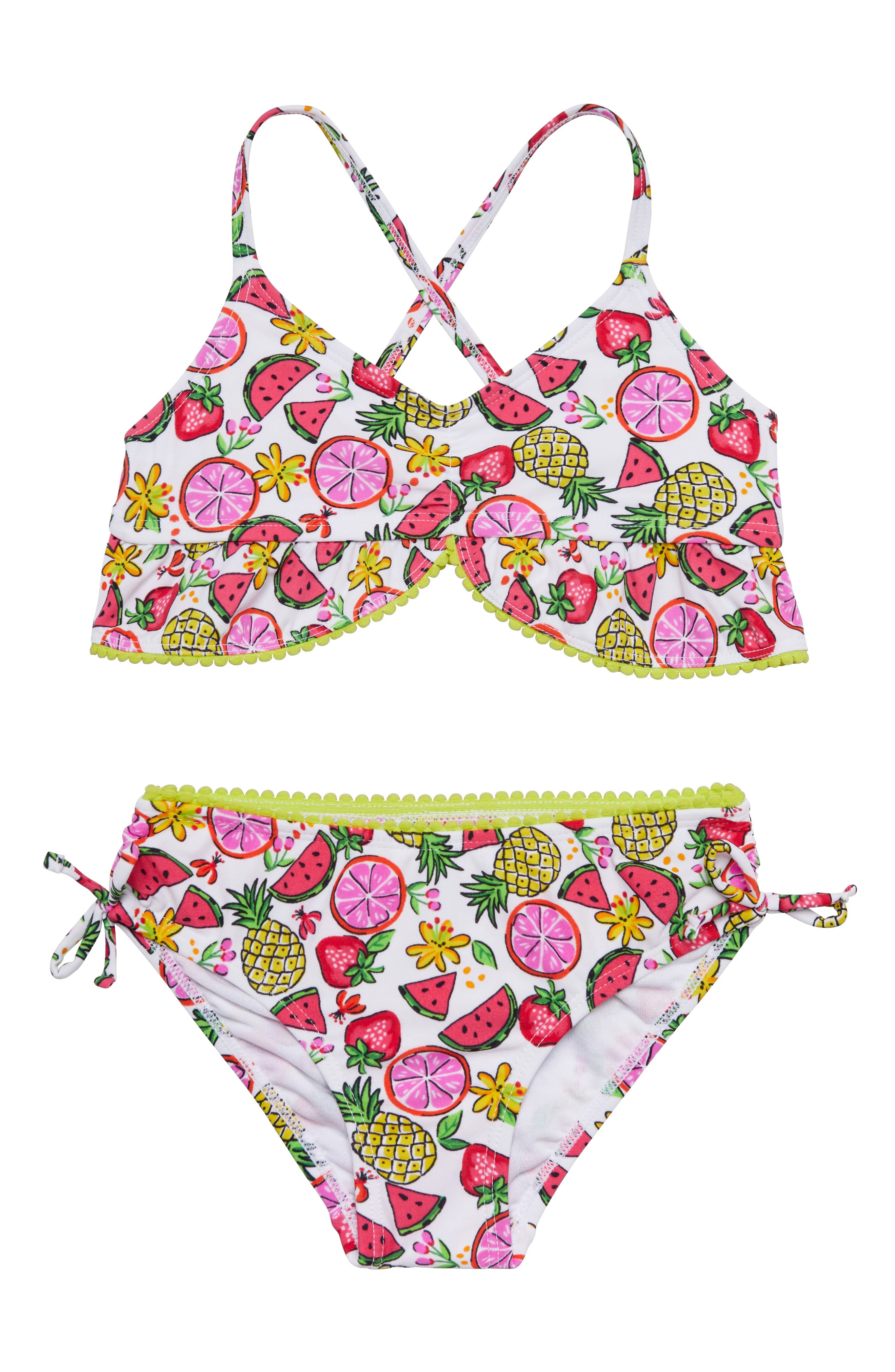 Fruity Floral Two-Piece Swimsuit,                             Main thumbnail 1, color,                             115