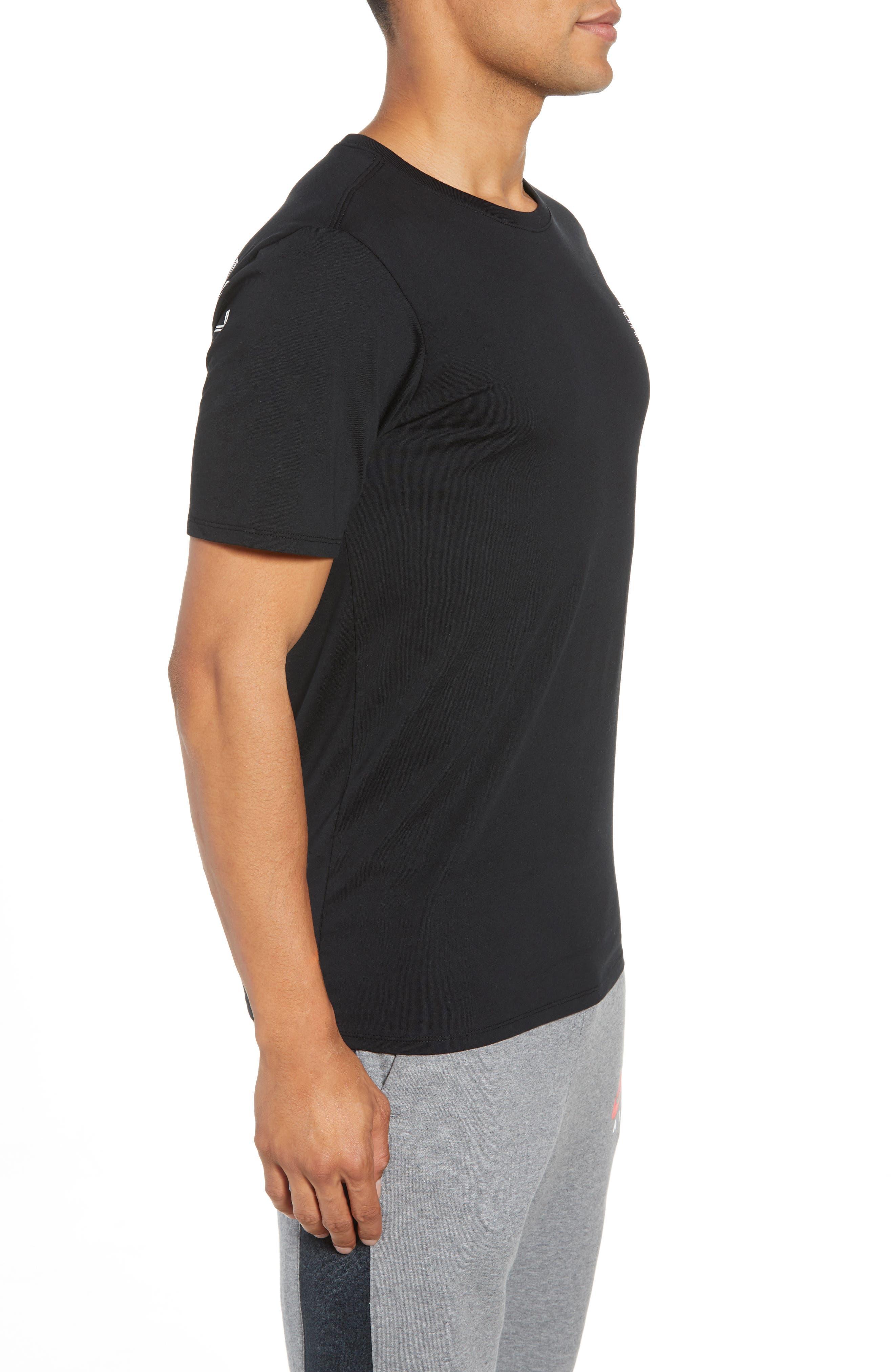 Graphic T-Shirt,                             Alternate thumbnail 3, color,                             BLACK/ WHITE