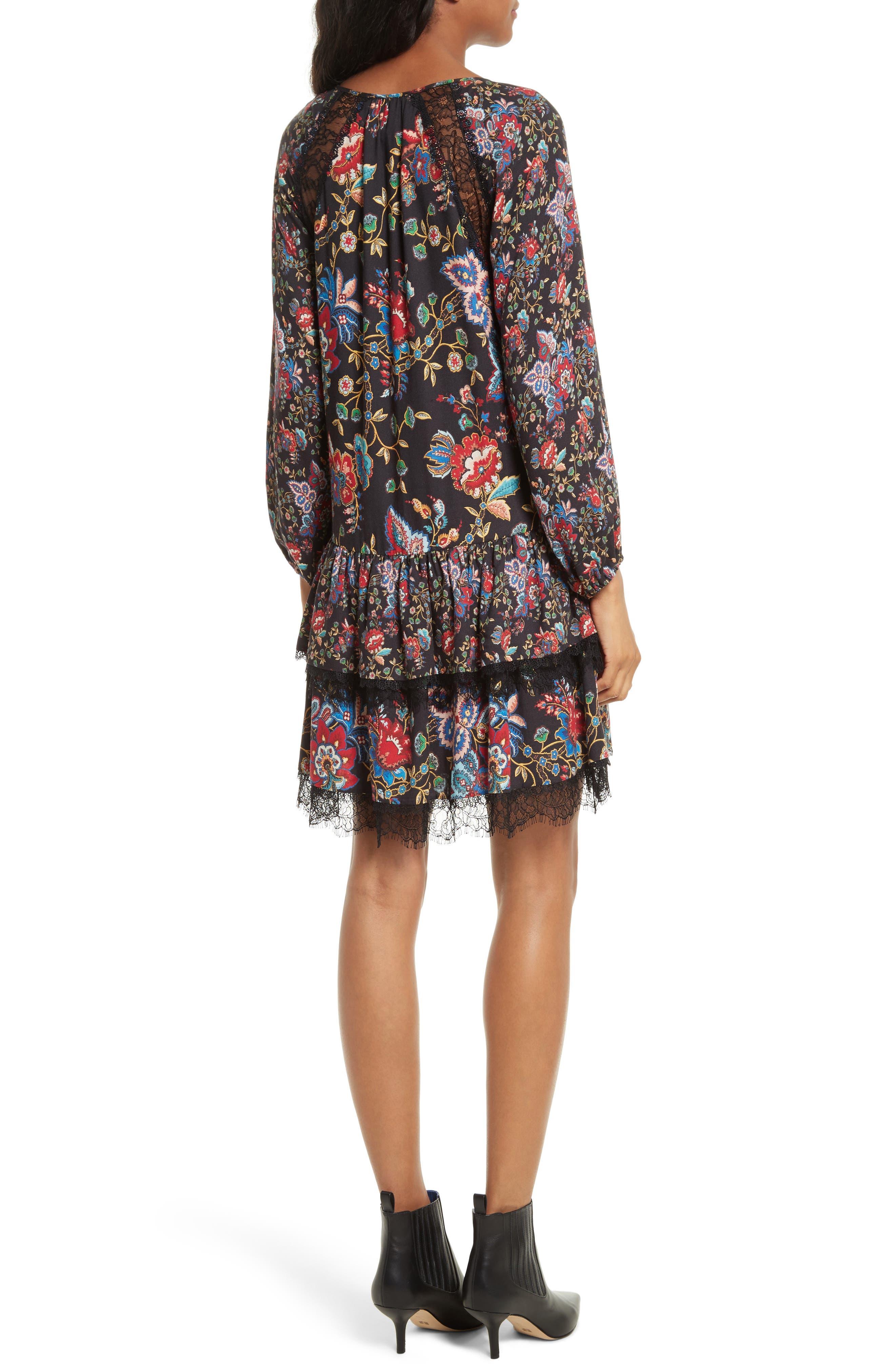Lakita Tiered Tunic Dress,                             Alternate thumbnail 2, color,                             006