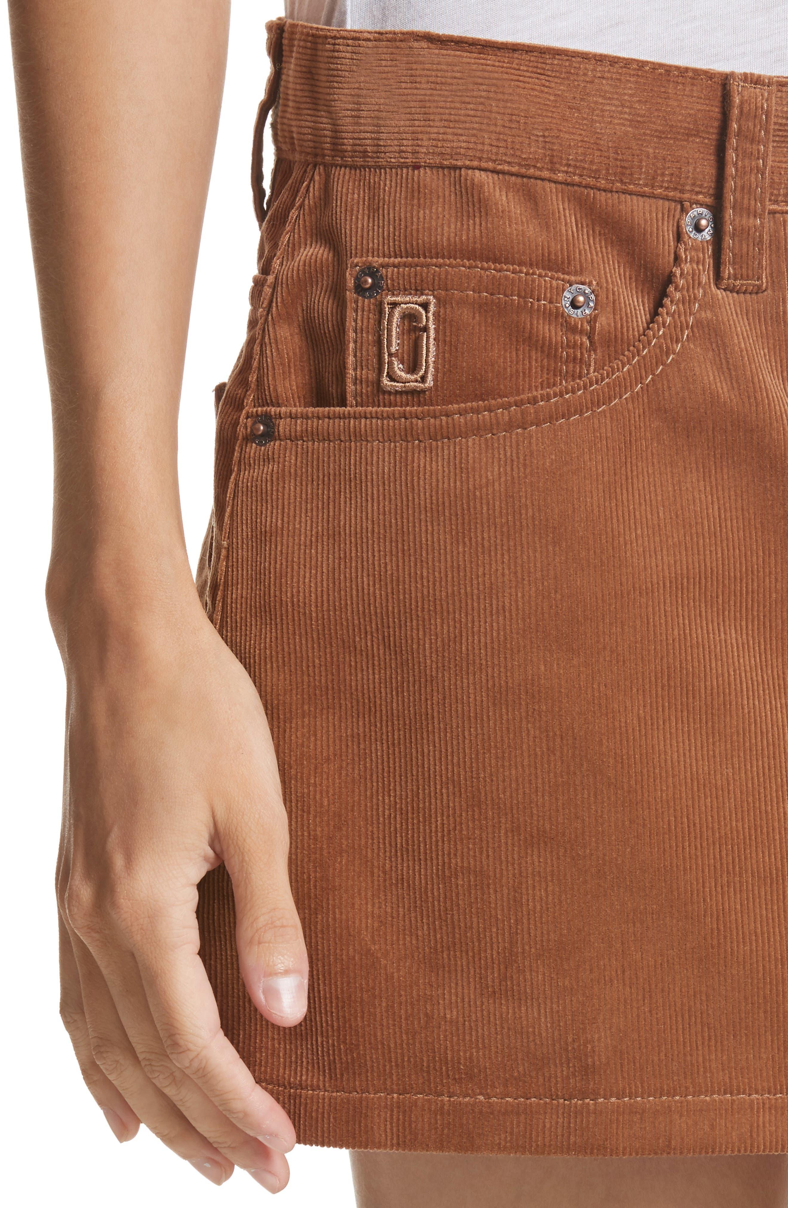 Corduroy Miniskirt,                             Alternate thumbnail 4, color,                             200