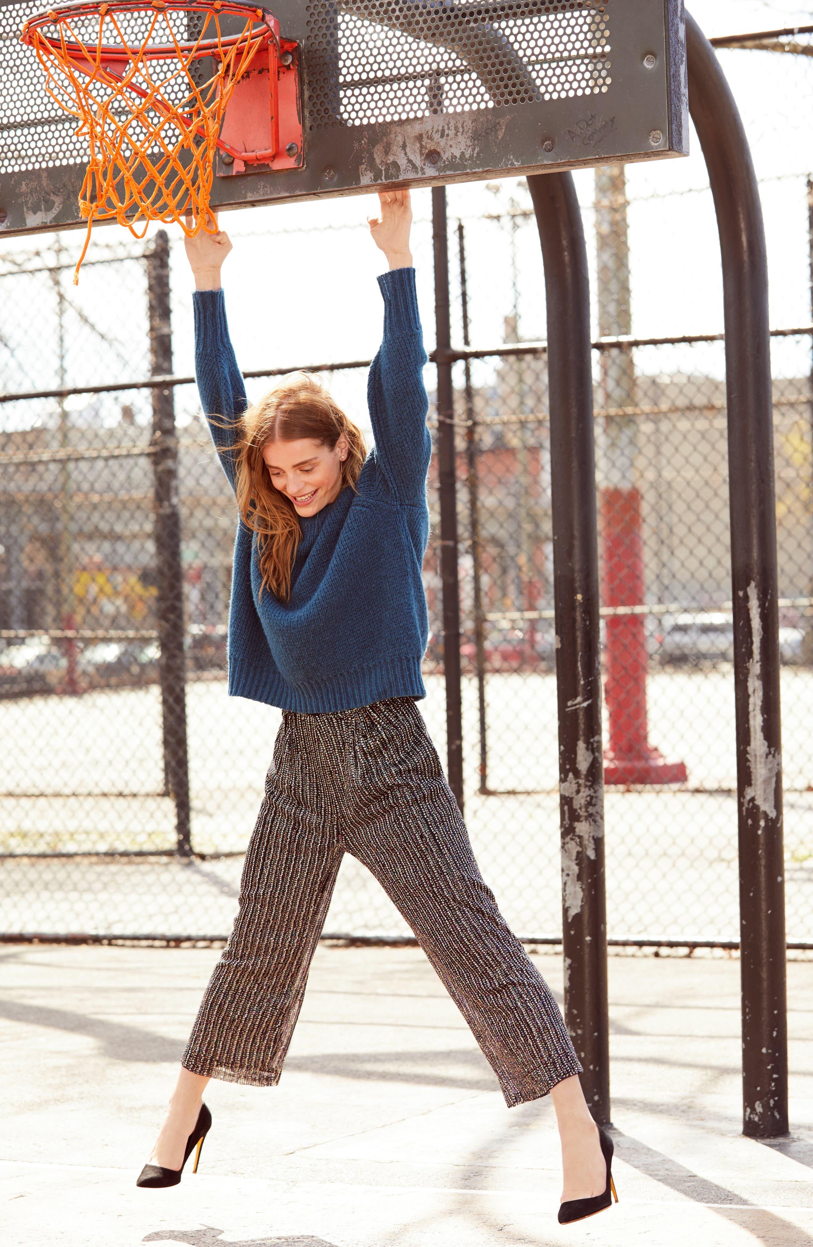 Ellen Wide Leg Crop Pants,                             Alternate thumbnail 5, color,                             BLACK MULTI