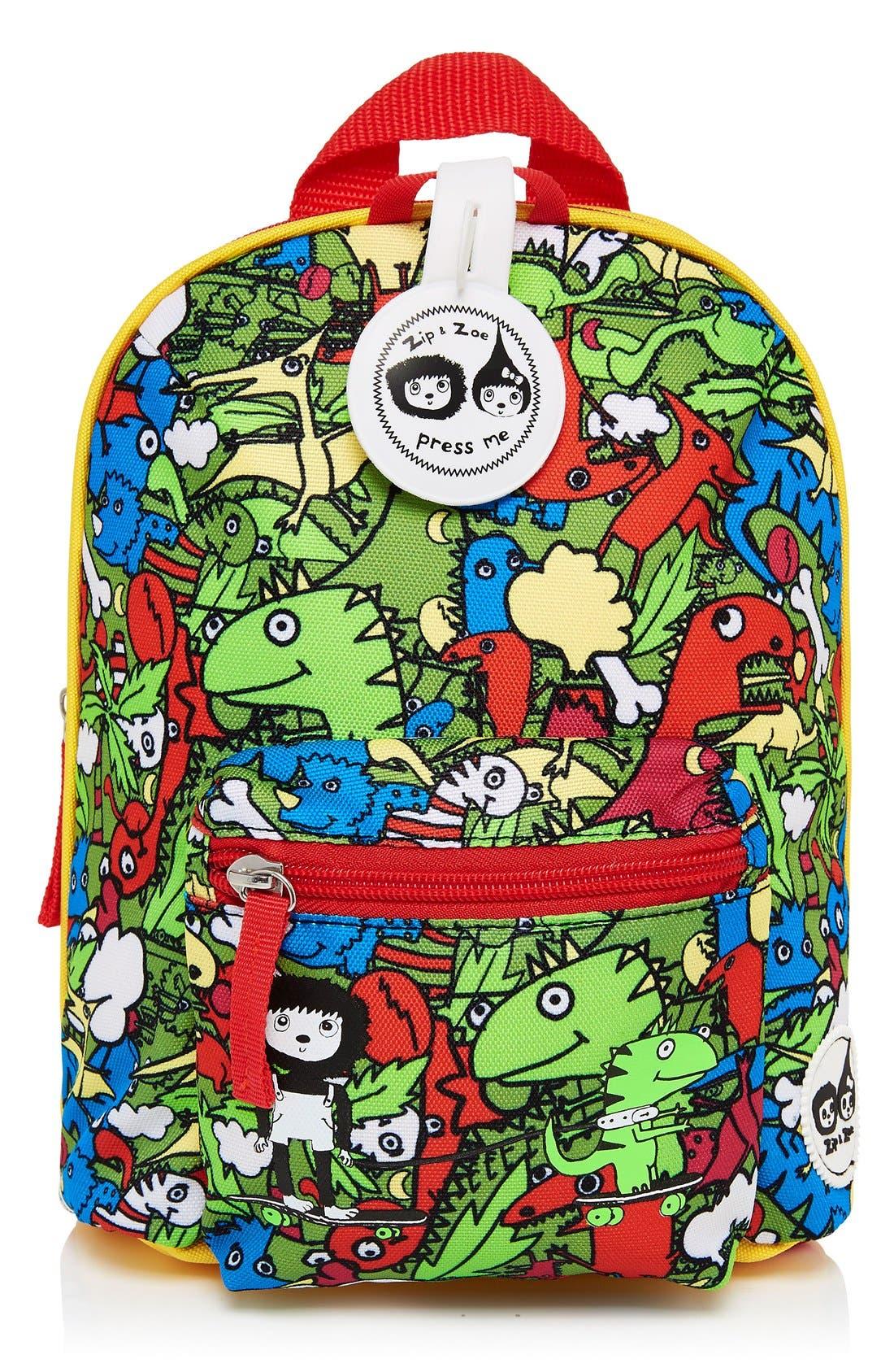 Graphic Mini Backpack,                             Main thumbnail 1, color,                             DINO MULTI