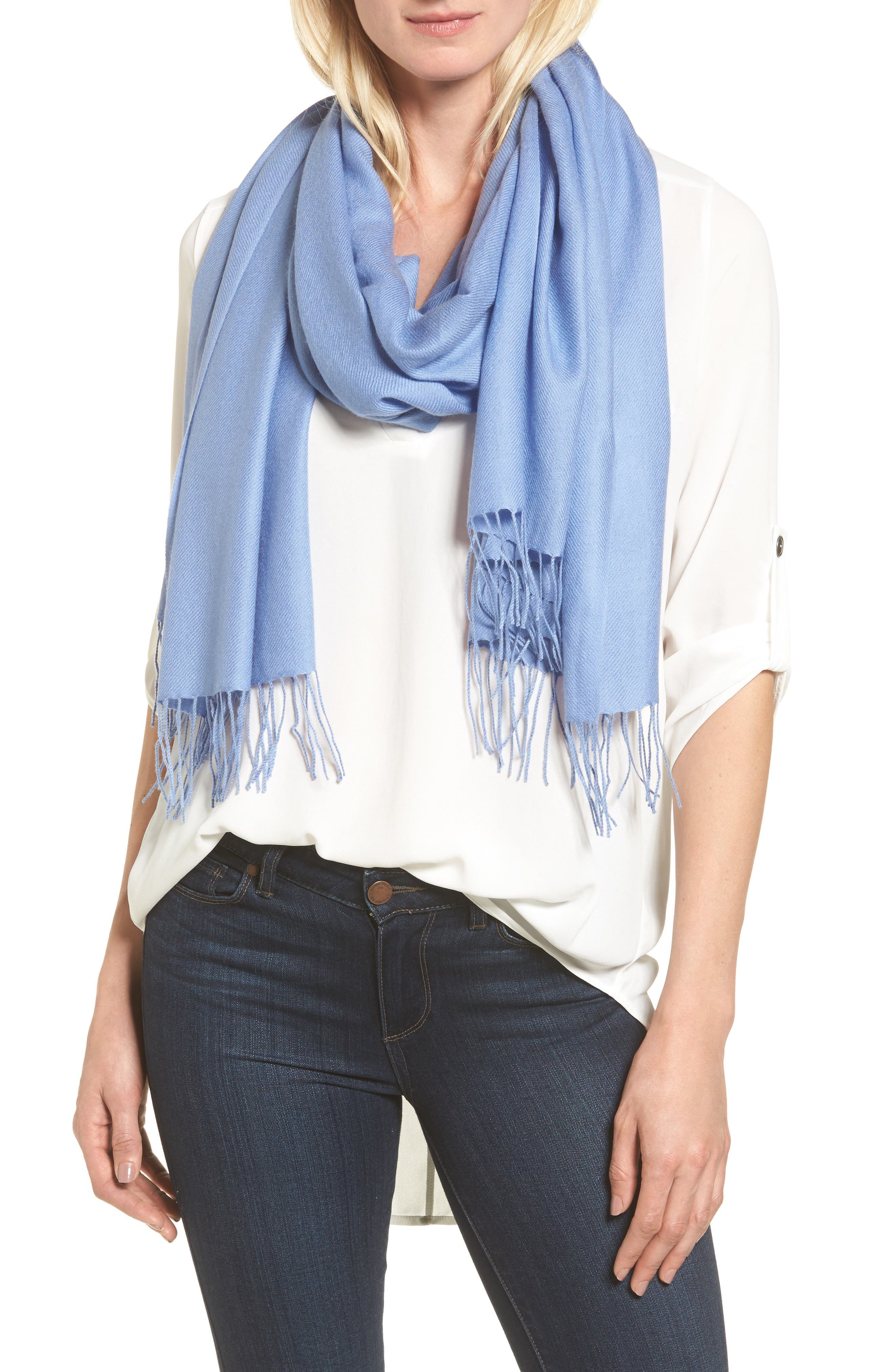 Tissue Weight Wool & Cashmere Scarf,                             Main thumbnail 28, color,