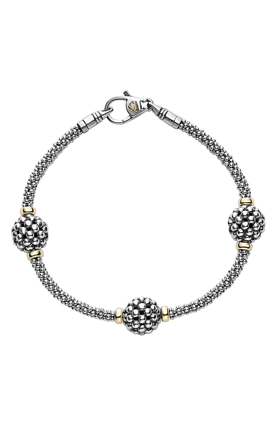 'Caviar Forever' Ball Station Bracelet,                             Main thumbnail 1, color,                             SILVER/ GOLD