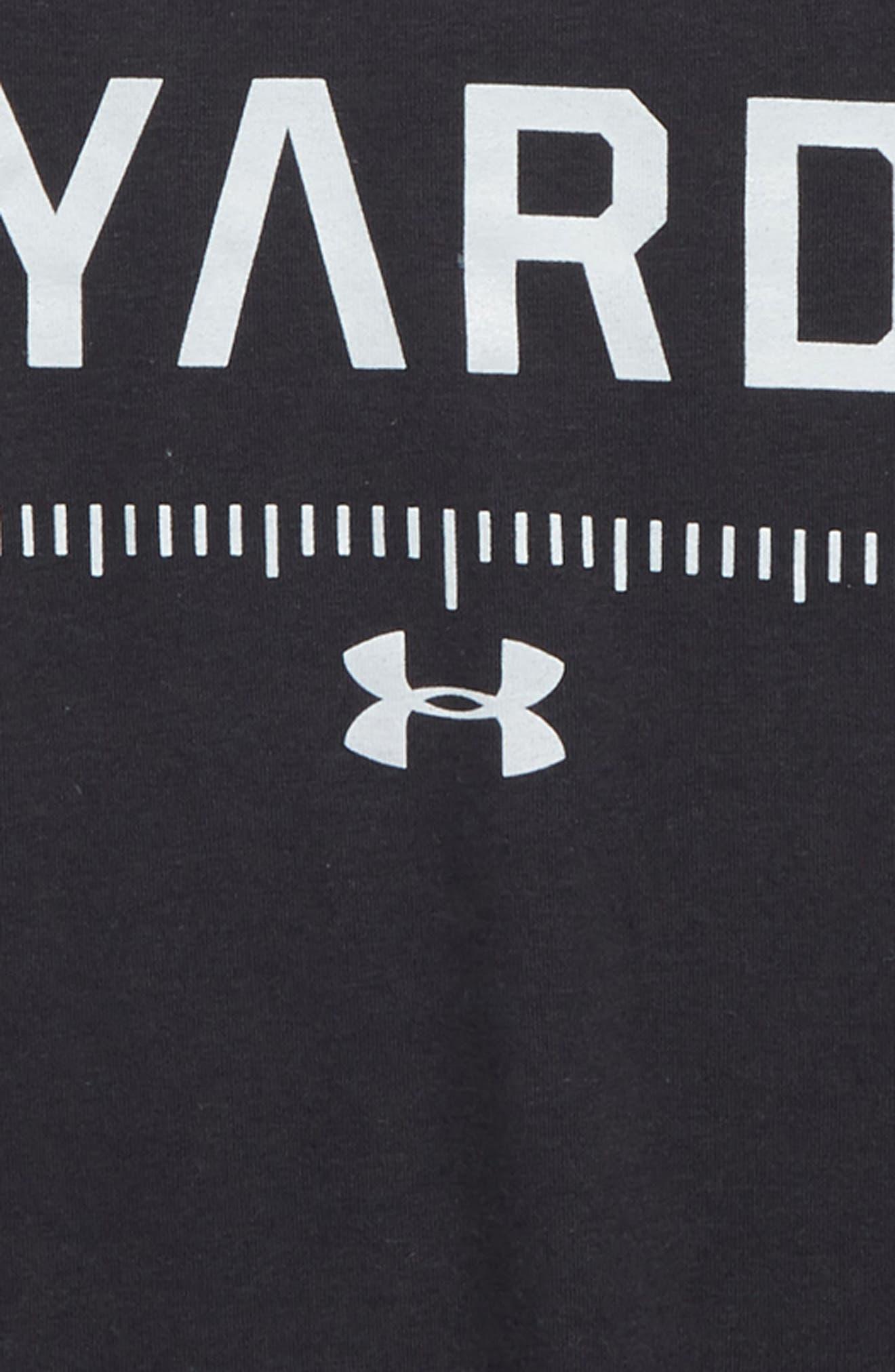 Earn Every Yard HeatGear<sup>®</sup> Graphic T-Shirt,                             Alternate thumbnail 2, color,                             001