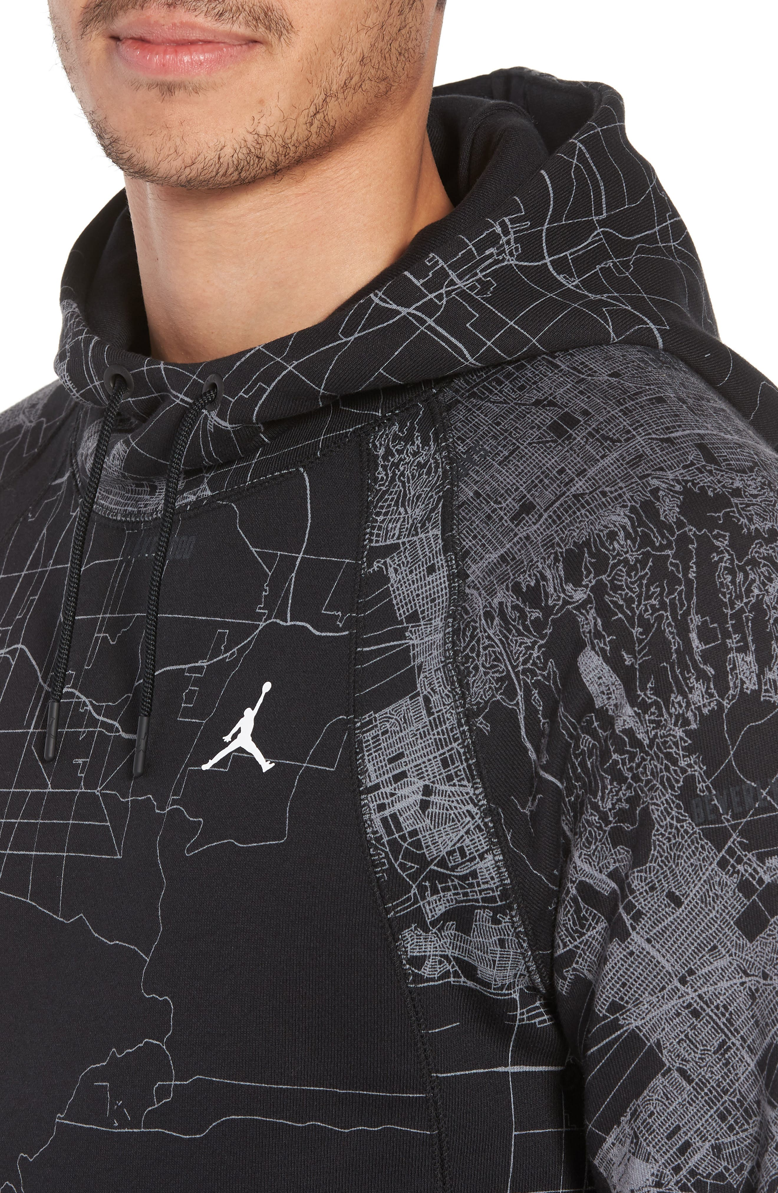Wings Graphic Hoodie,                             Alternate thumbnail 4, color,                             010