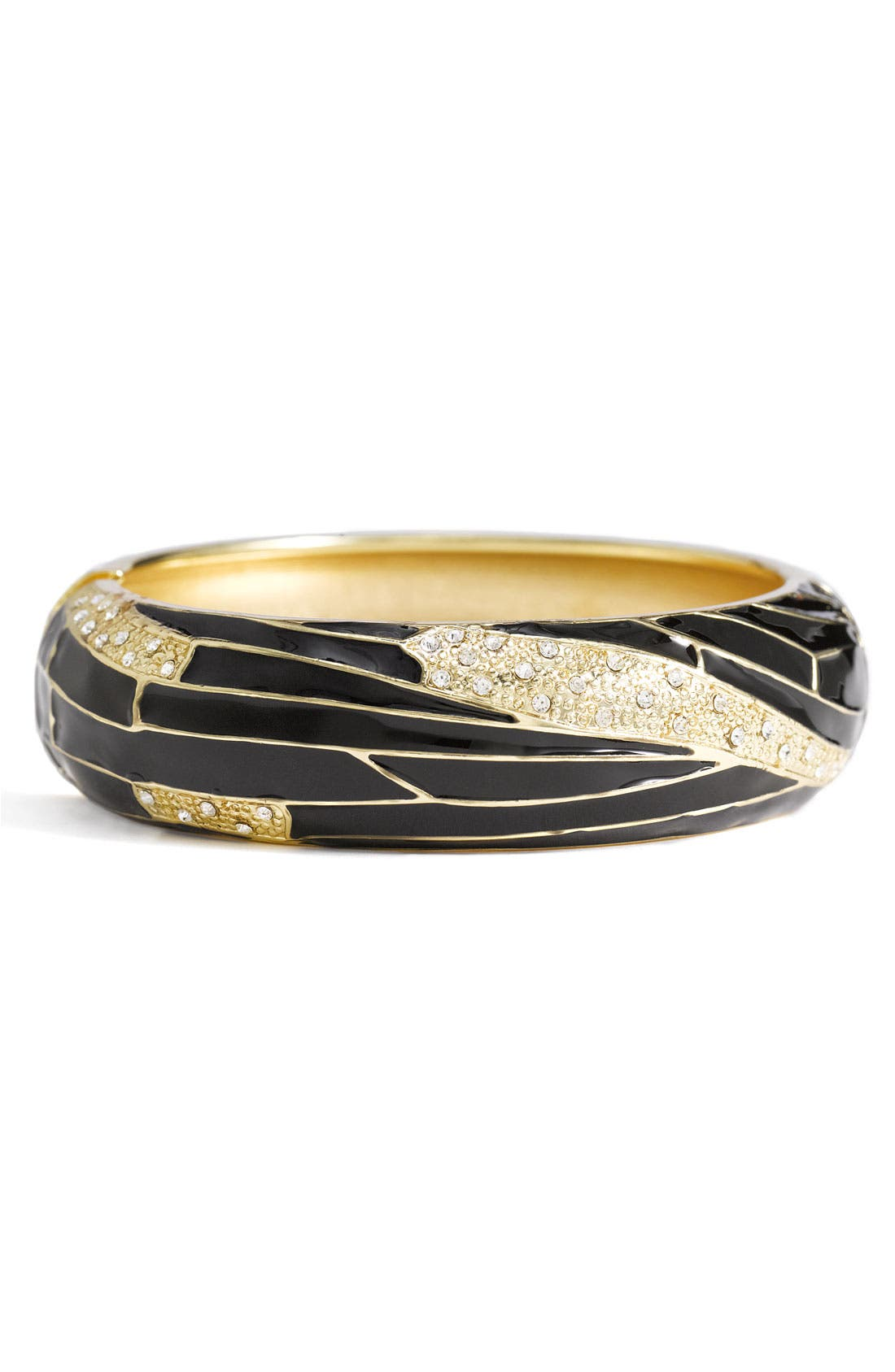 Large Insect Wing Enamel Bangle,                             Main thumbnail 1, color,                             001