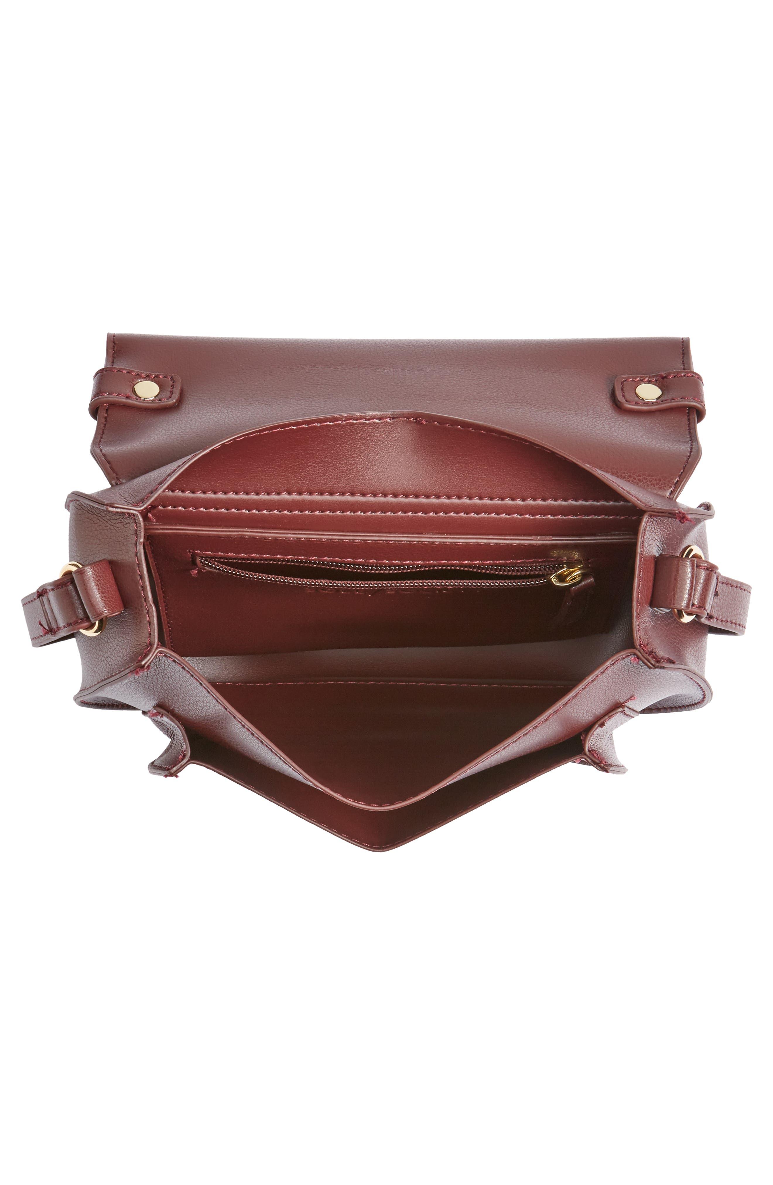 Faux Leather Crossbody Bag,                             Alternate thumbnail 8, color,