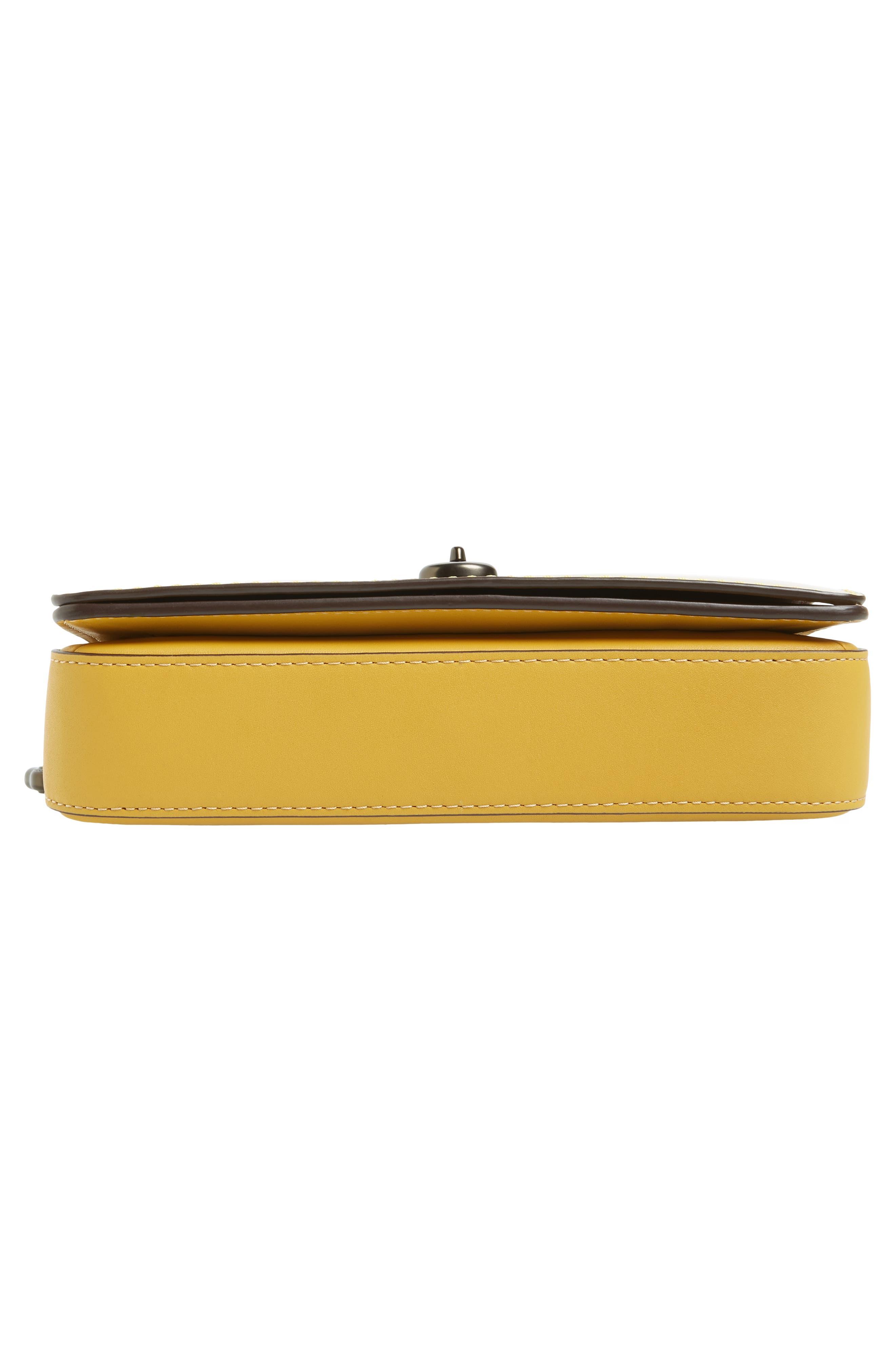 High Shine Dinky Metallic Leather Crossbody Bag,                             Alternate thumbnail 6, color,                             700
