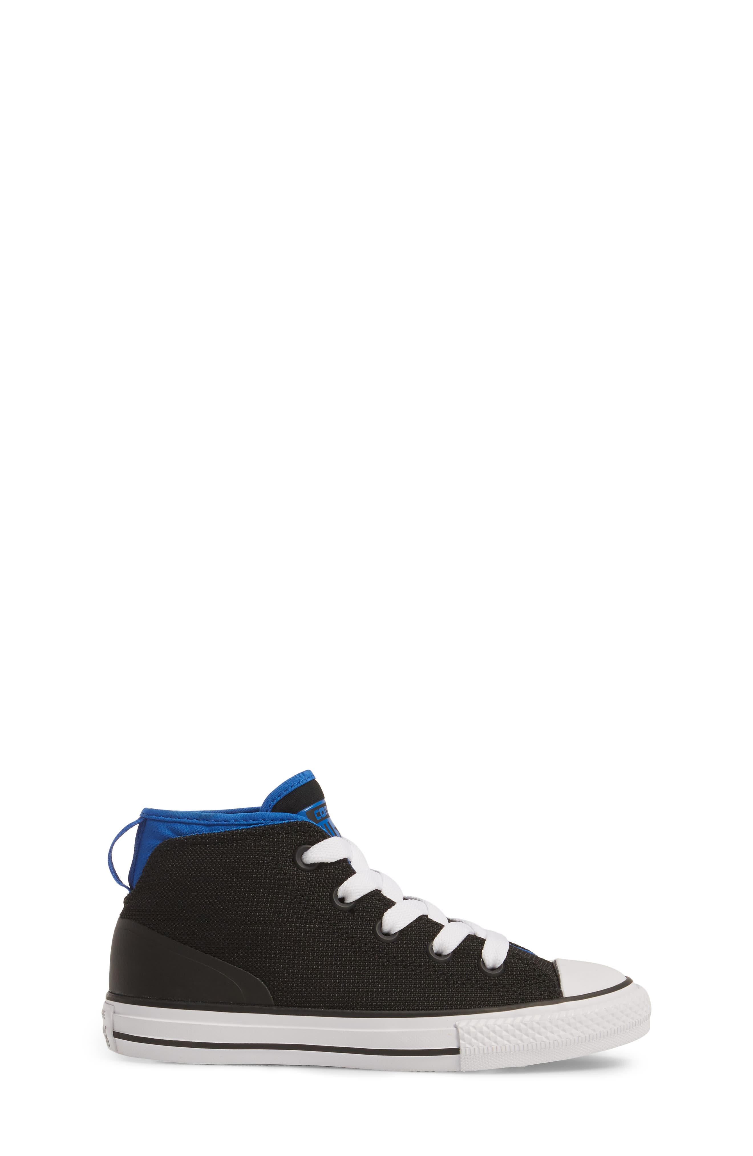Chuck Taylor<sup>®</sup> All Star<sup>®</sup> Syde Street High Top Sneaker,                             Alternate thumbnail 3, color,                             001