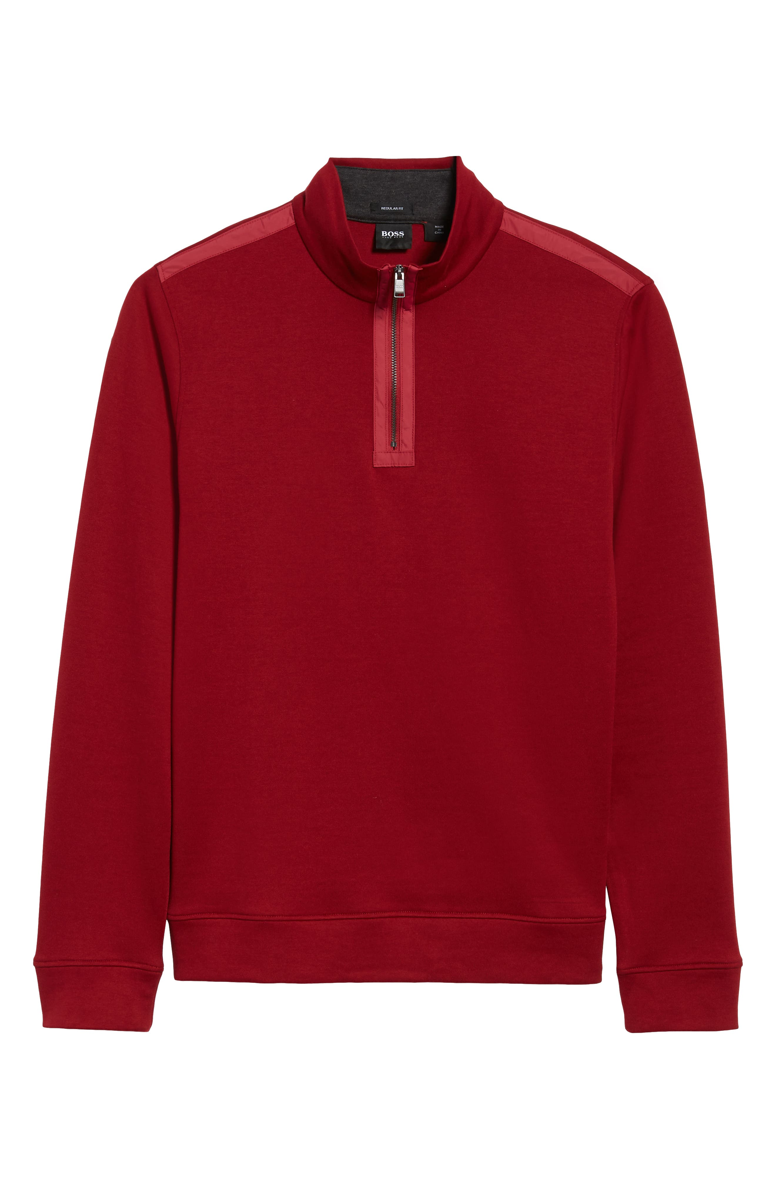 Sidney Quarter Zip Pullover,                             Alternate thumbnail 6, color,                             RED