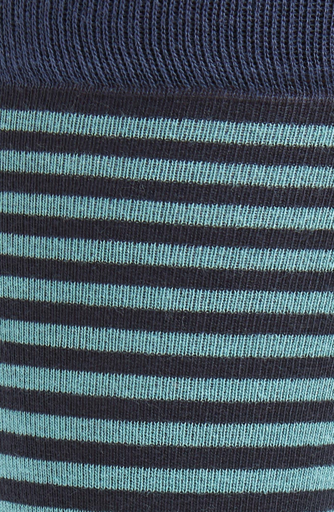 Stripe Socks,                             Alternate thumbnail 2, color,                             NAVY/ GREEN