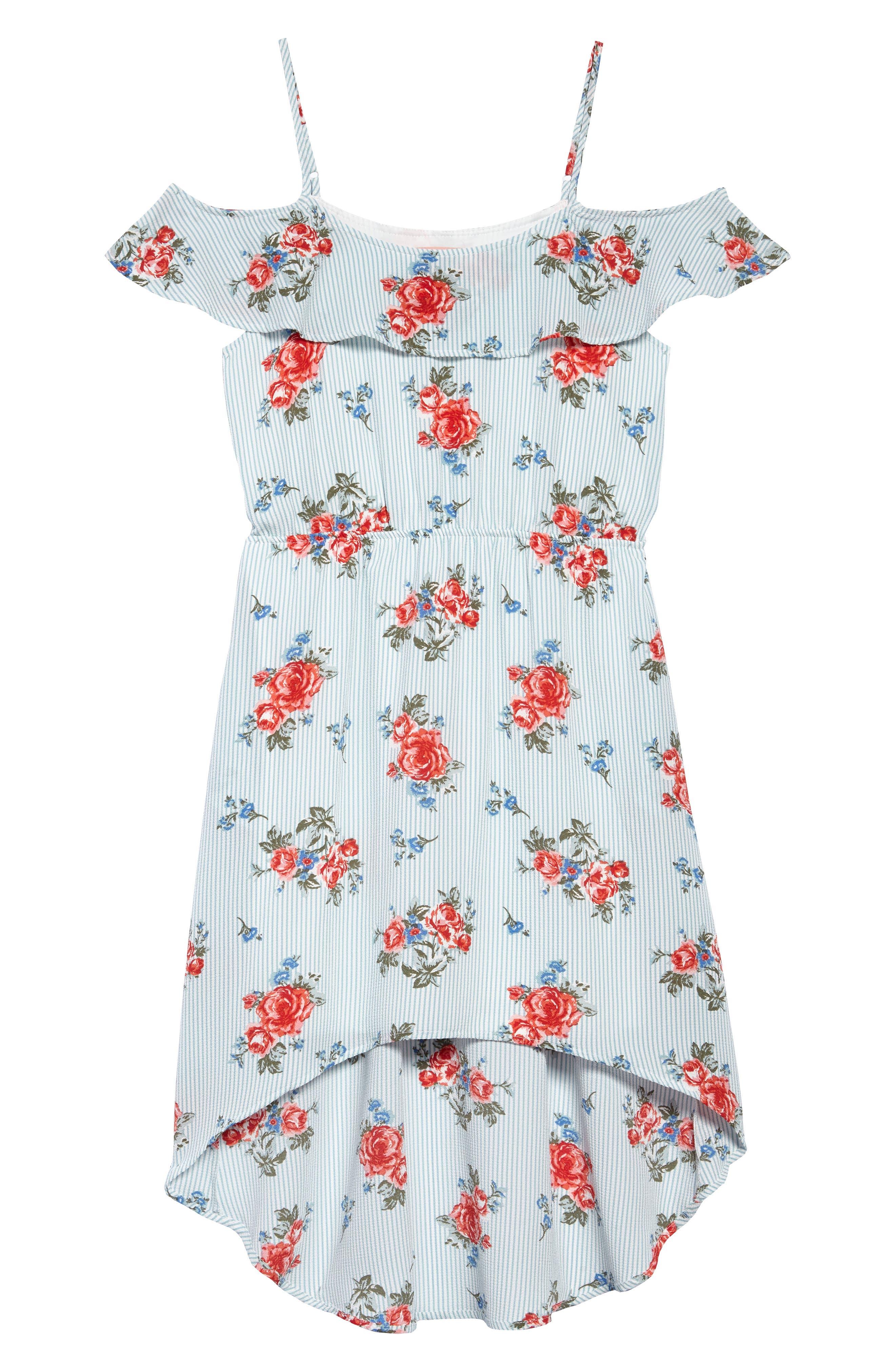 High/Low Dress,                             Main thumbnail 1, color,                             400