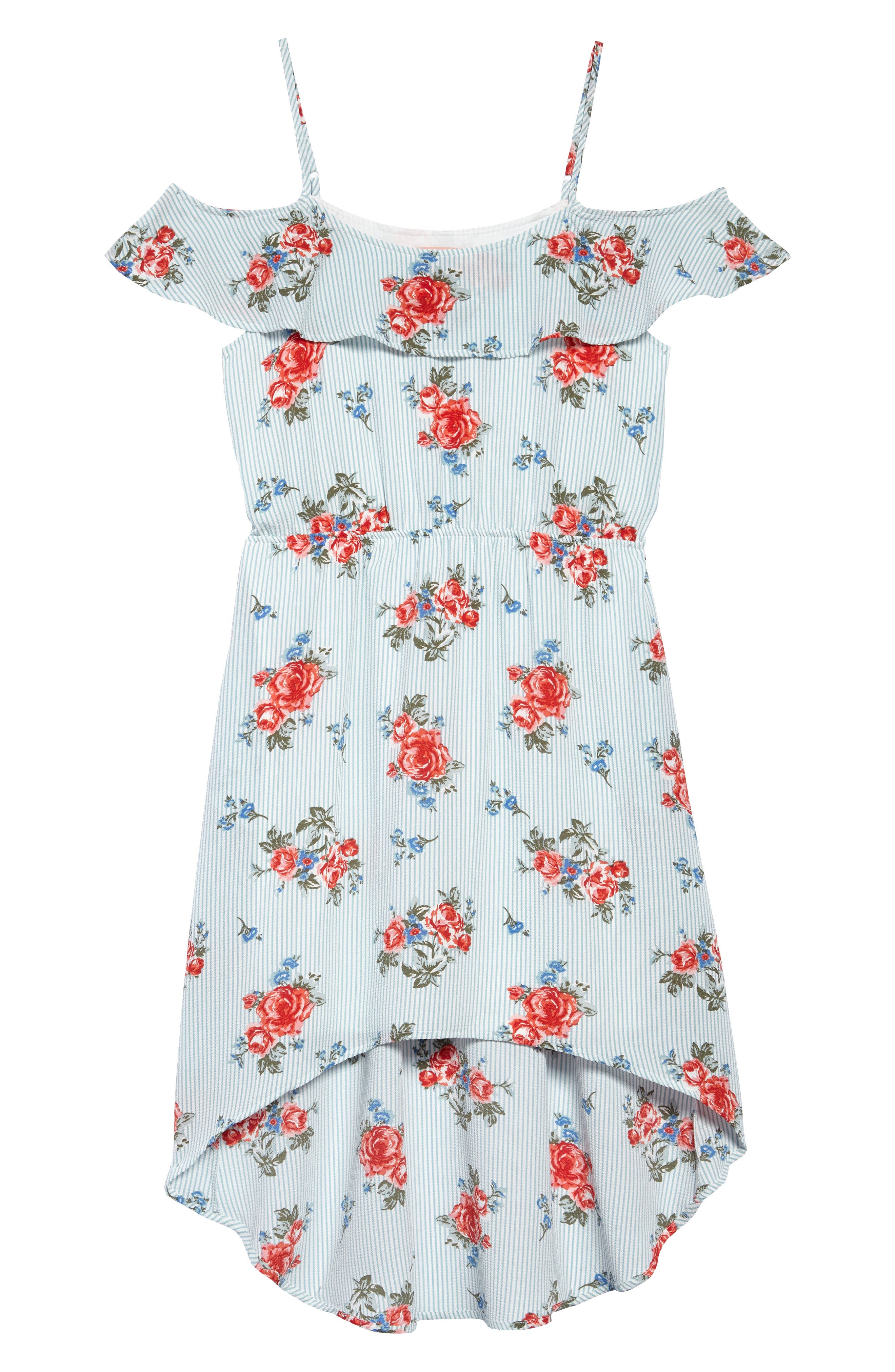 High/Low Dress,                         Main,                         color, 400