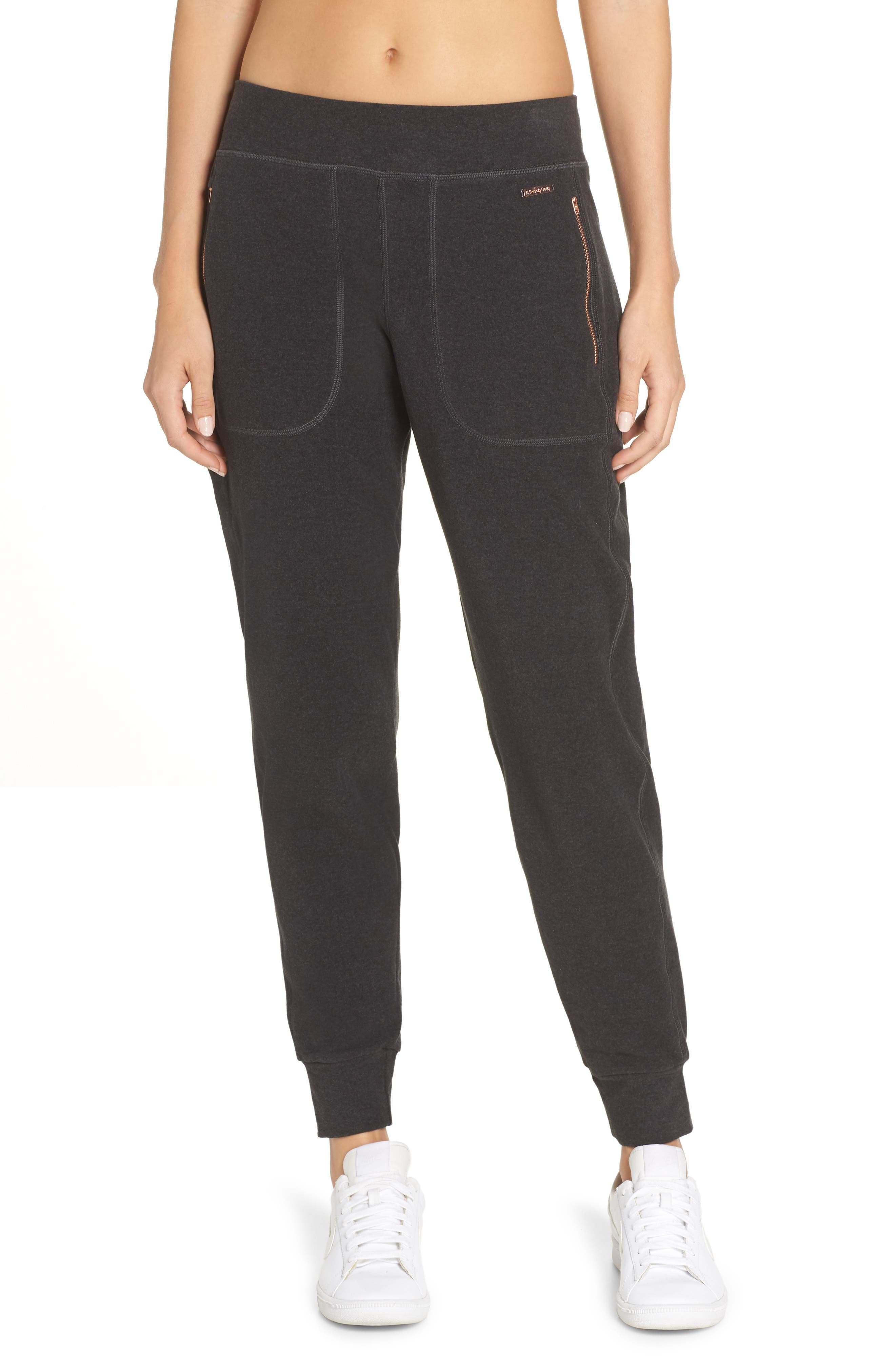 Luxe Liberty Jogger Pants,                         Main,                         color, BLACK MARL