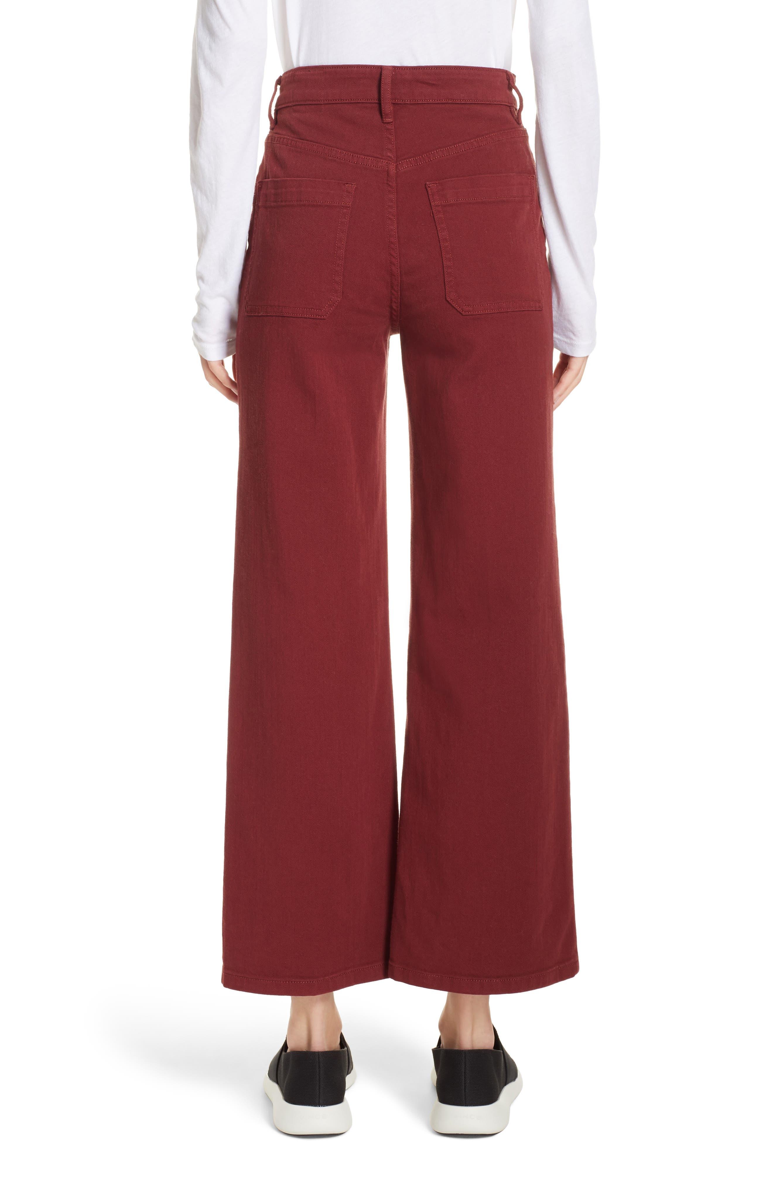 Colored Denim Crop Pants,                             Alternate thumbnail 2, color,                             631