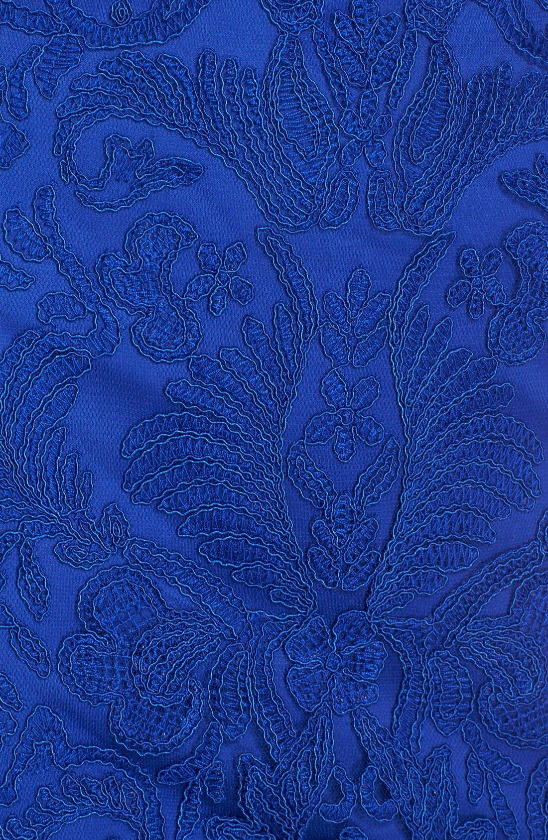 Illusion Yoke Lace Sheath Dress,                             Alternate thumbnail 109, color,