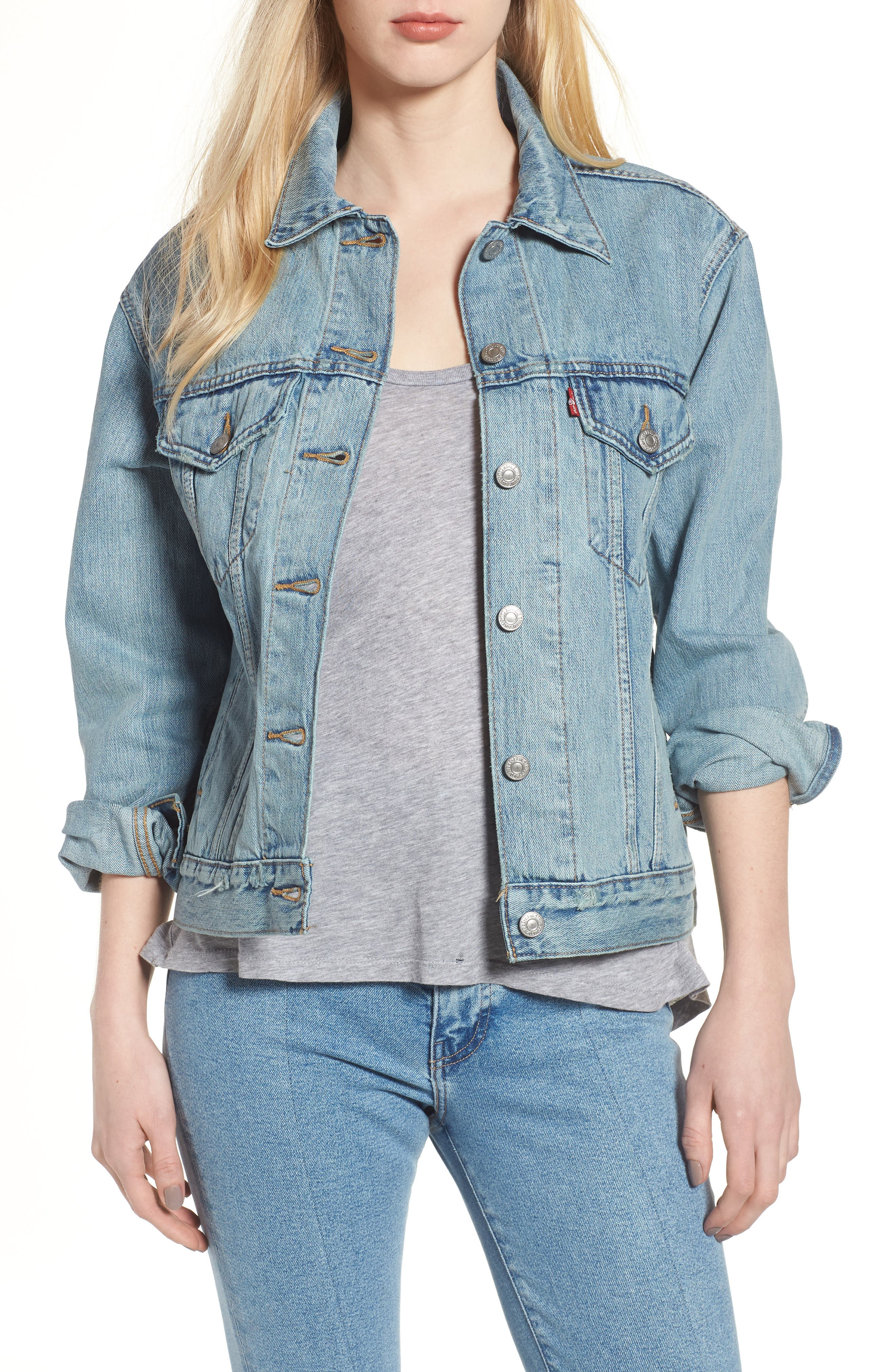 Ex-Boyfriend Trucker Jacket,                         Main,                         color, DREAM OF LIFE