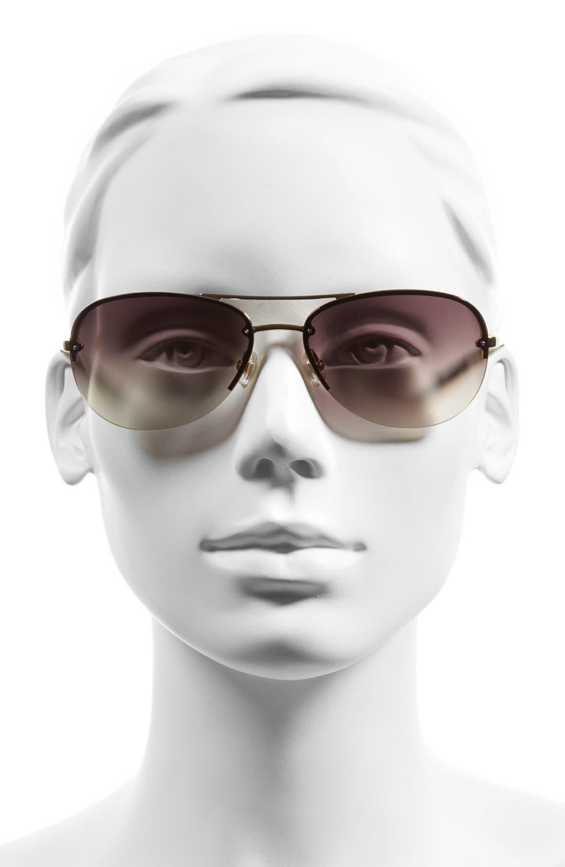 'beryls' 59mm sunglasses,                             Alternate thumbnail 2, color,                             GOLD/ BROWN GRADIENT