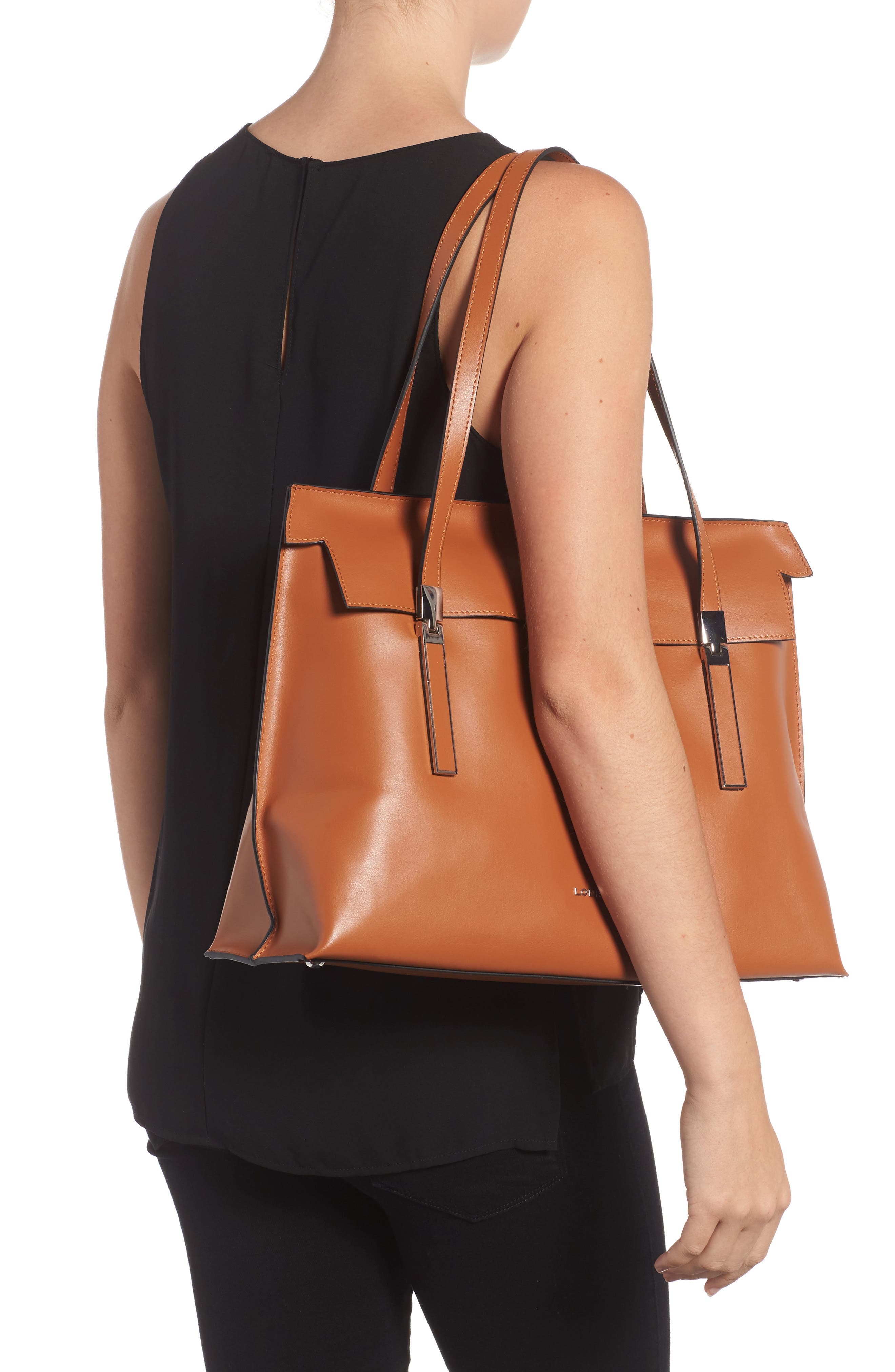 LODIS Silicon Valley - Lorrain RFID Leather Satchel,                             Alternate thumbnail 5, color,