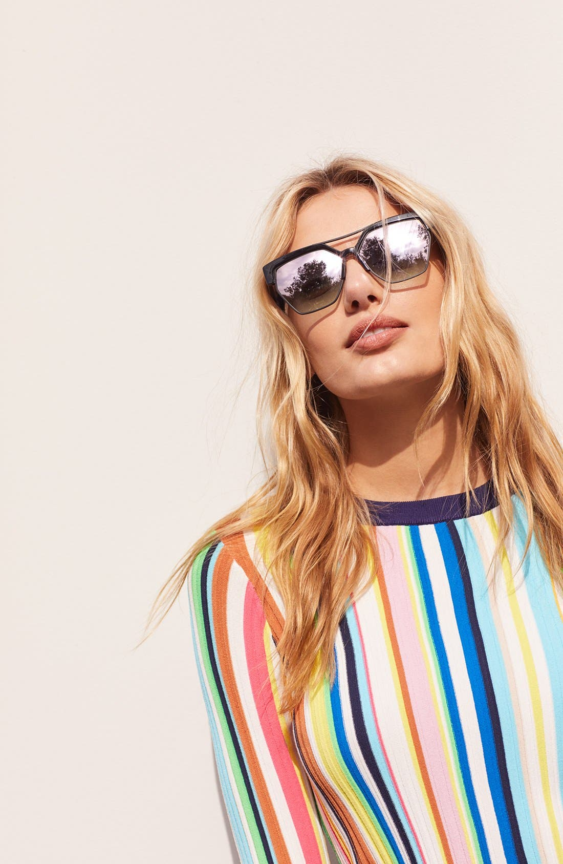 55mm Retro Sunglasses,                             Alternate thumbnail 10, color,