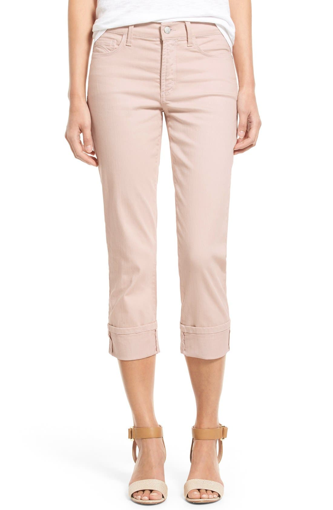 'Dayla' Colored Wide Cuff Capri Jeans,                             Main thumbnail 14, color,