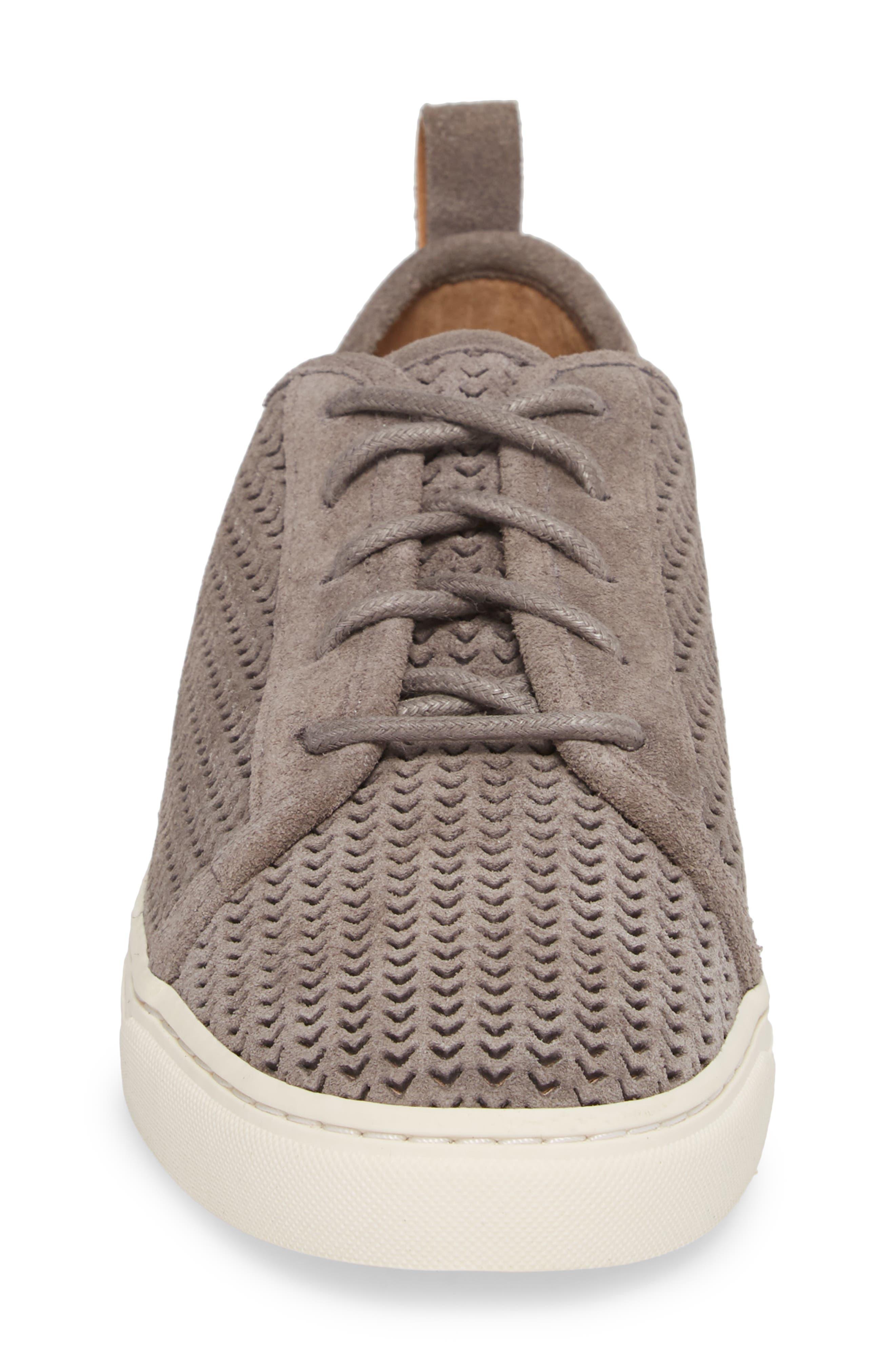 Lawove Sneaker,                             Alternate thumbnail 4, color,                             TITANIUM SUEDE
