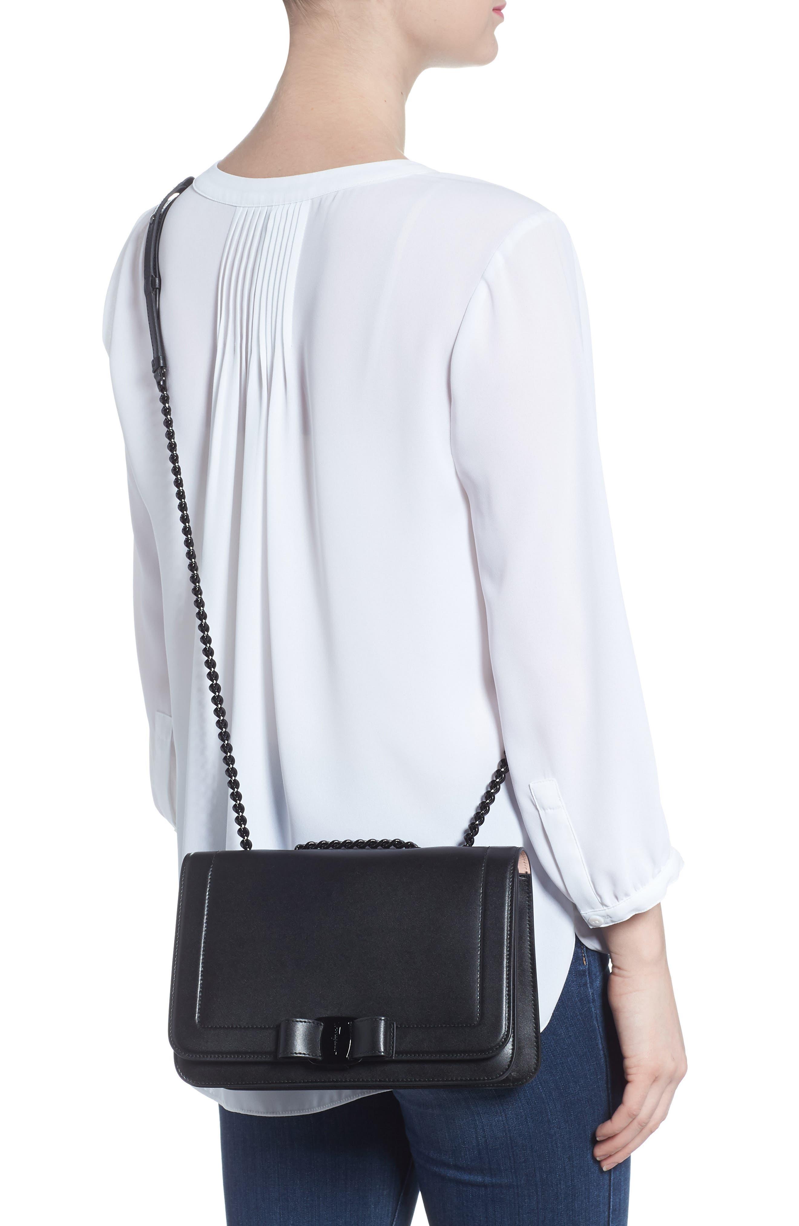 Vara Leather Crossbody Bag,                             Alternate thumbnail 2, color,                             NERO
