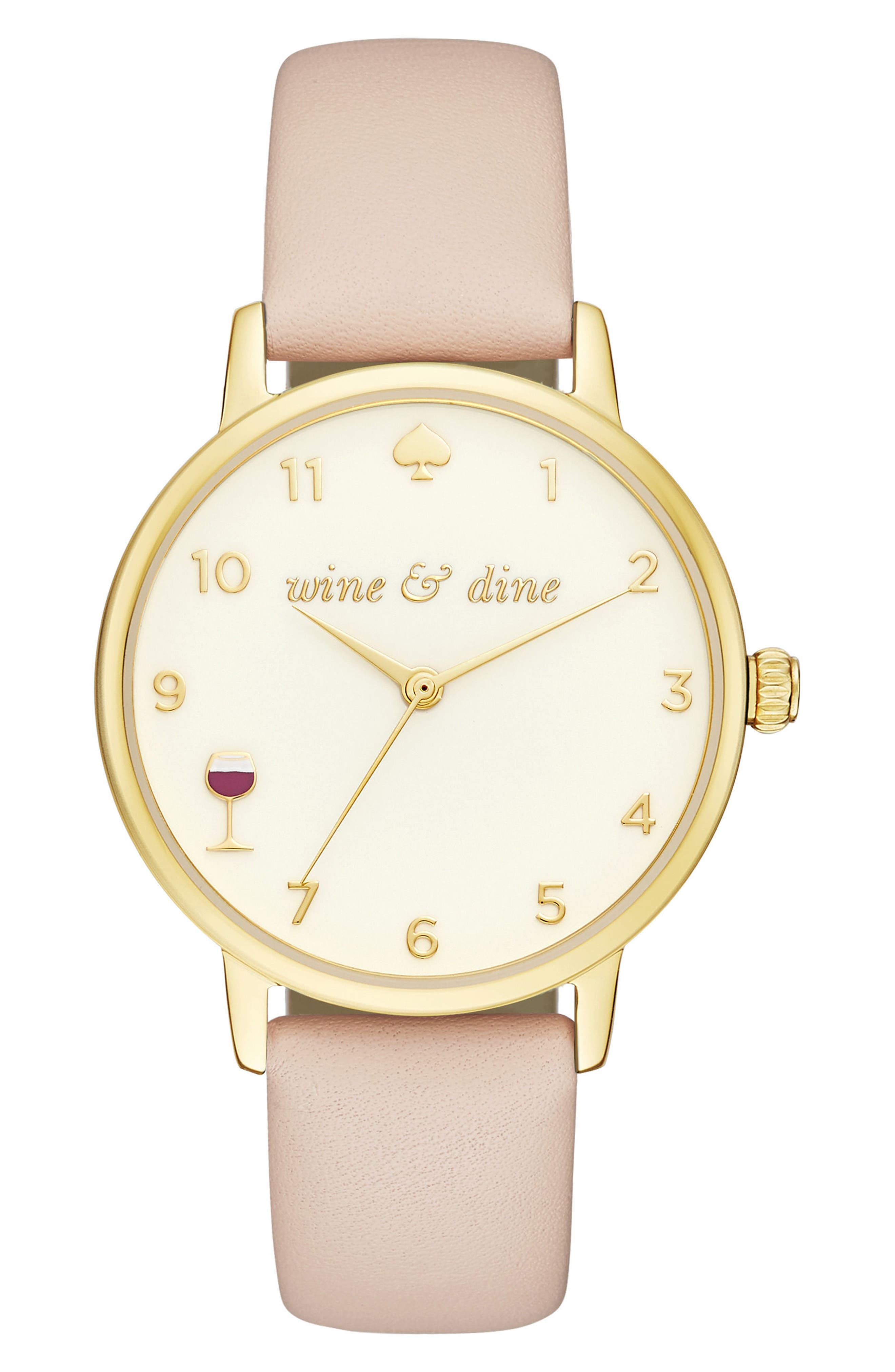 metro wine & dine leather strap watch, 34mm,                             Main thumbnail 4, color,