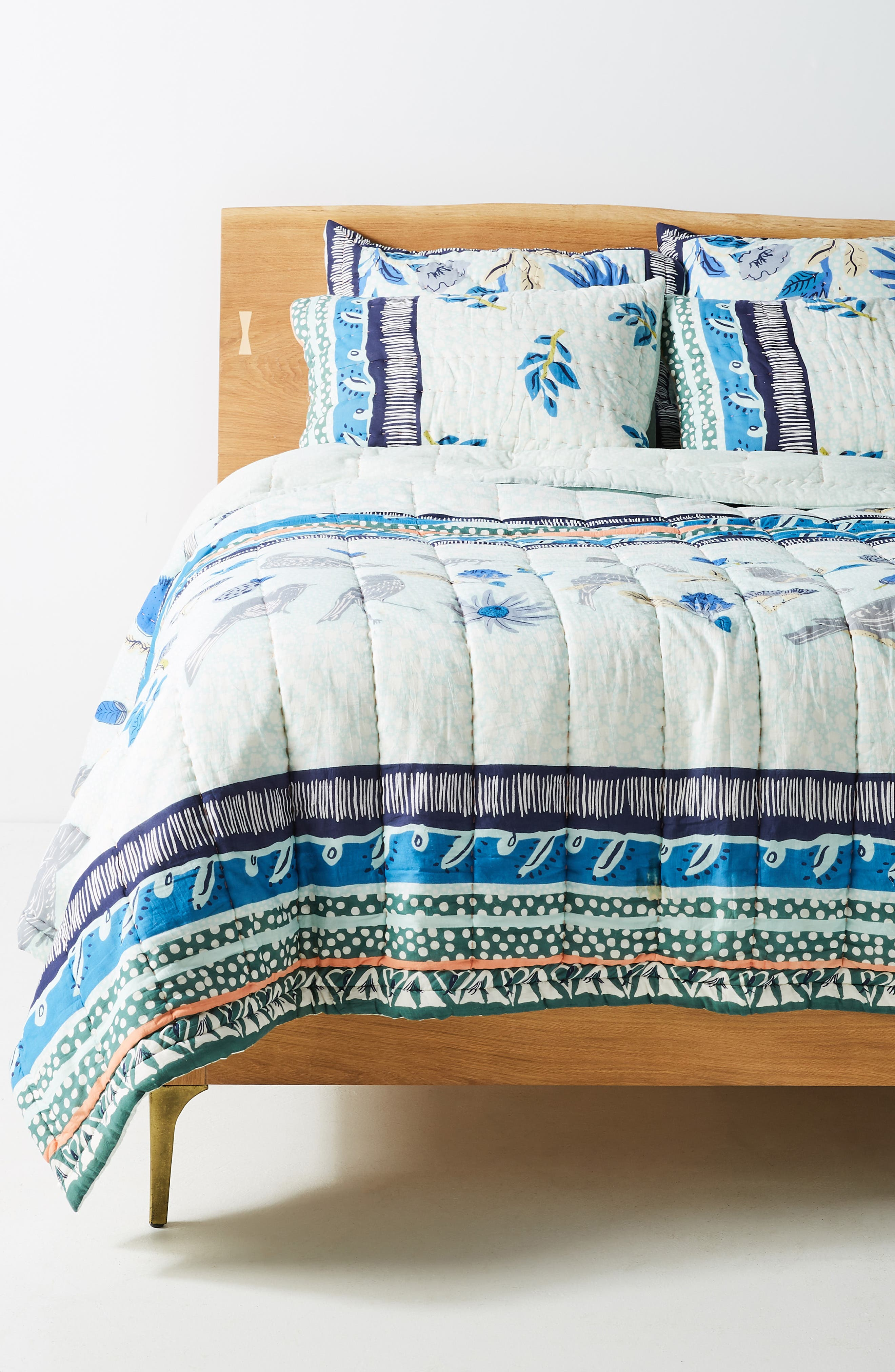 ANTHROPOLOGIE Kirby Quilt, Main, color, SKY