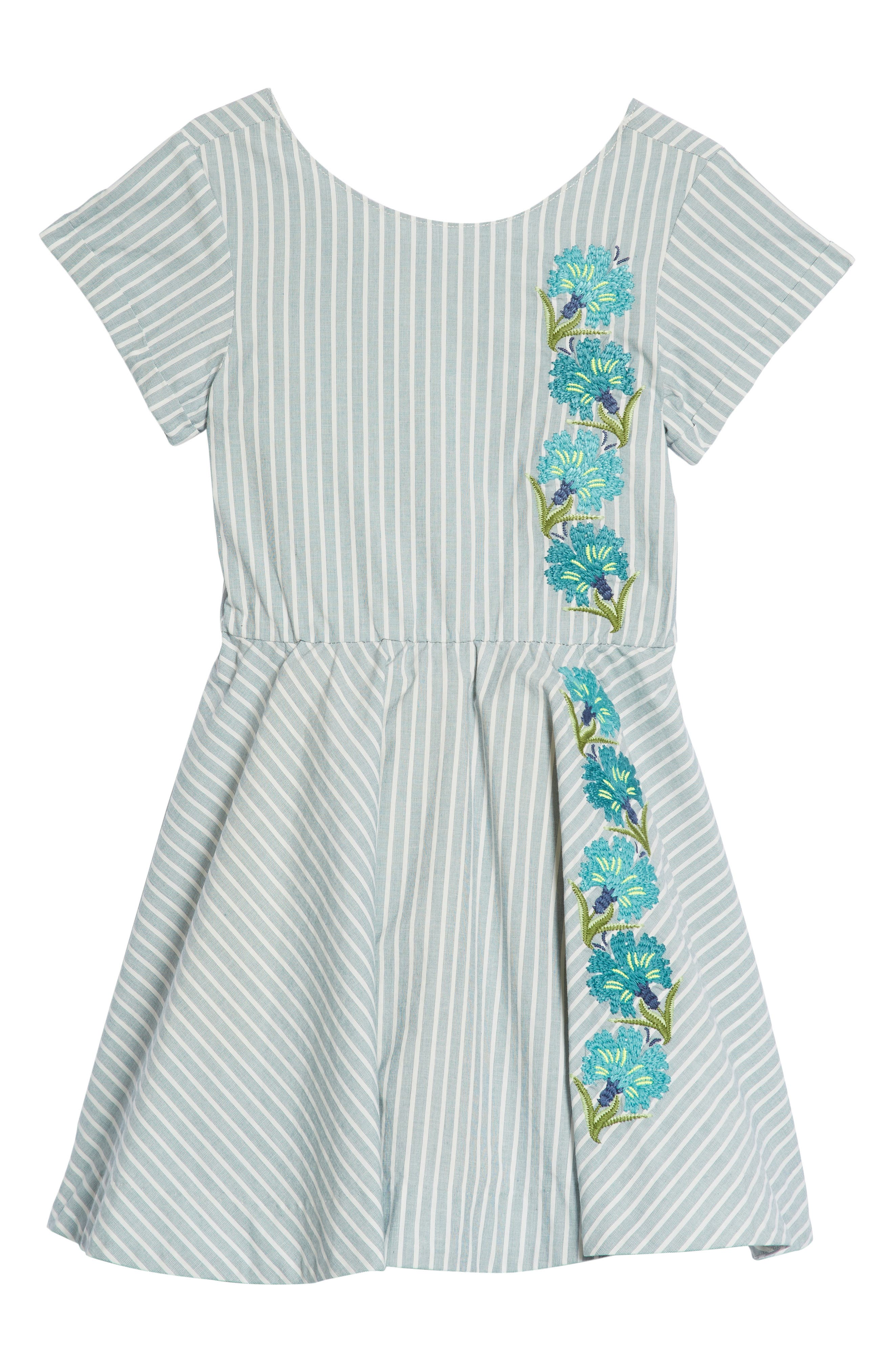 Floral Embroidered Dress,                             Main thumbnail 1, color,