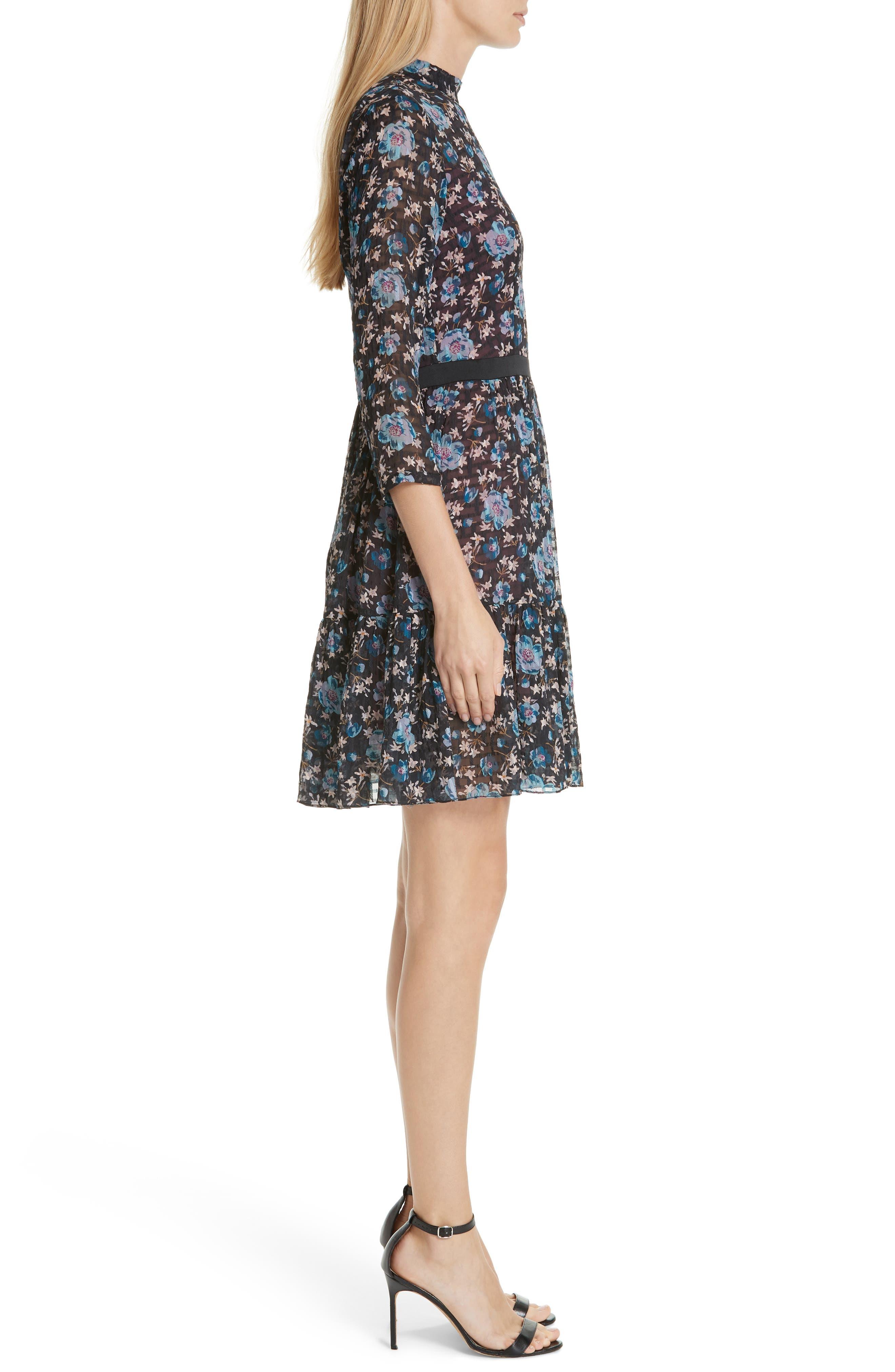 Solstice Silk Blend Dress,                             Alternate thumbnail 3, color,                             014