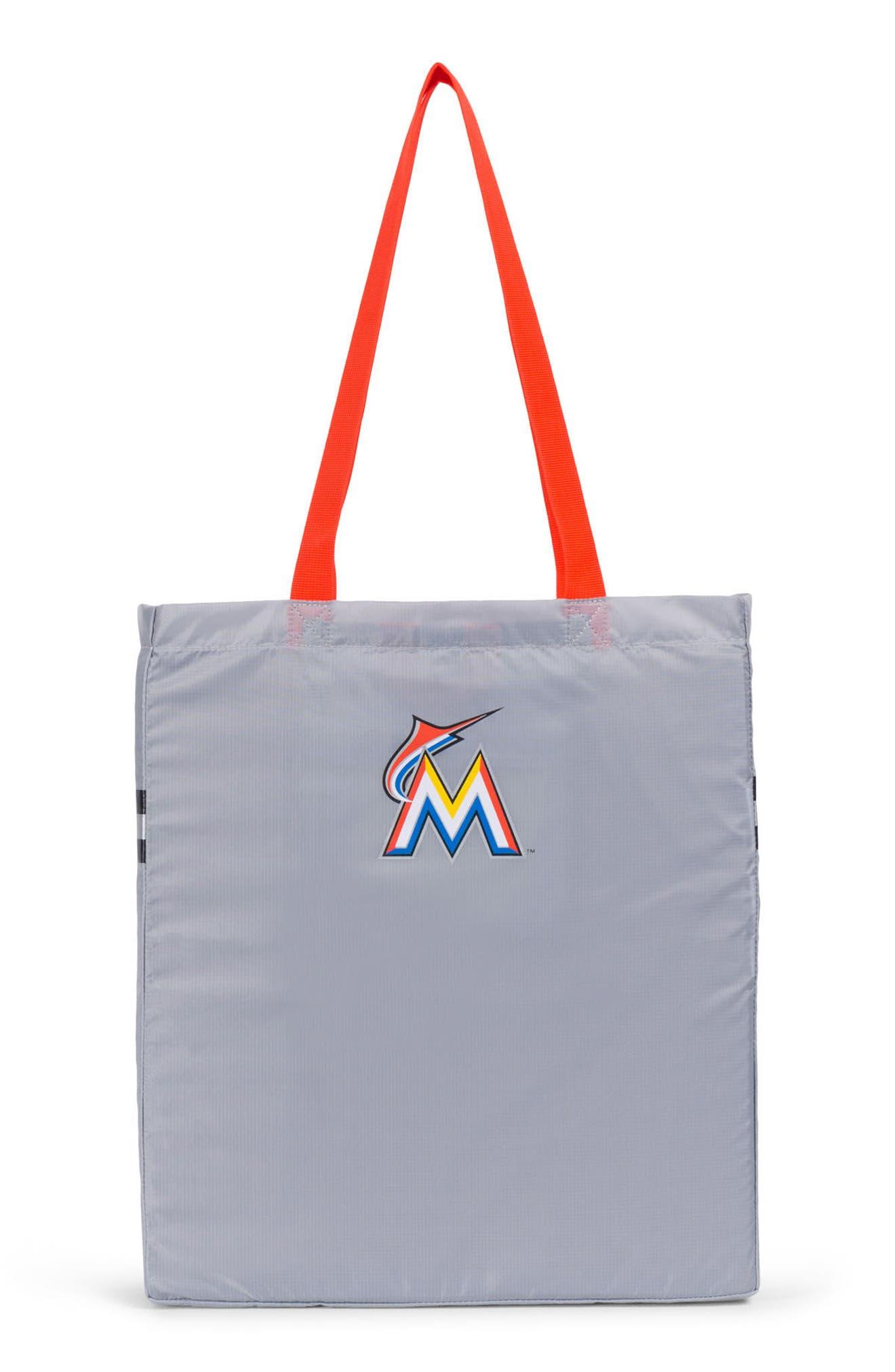 Packable - MLB National League Tote Bag,                             Alternate thumbnail 2, color,                             MIAMI MARLINS