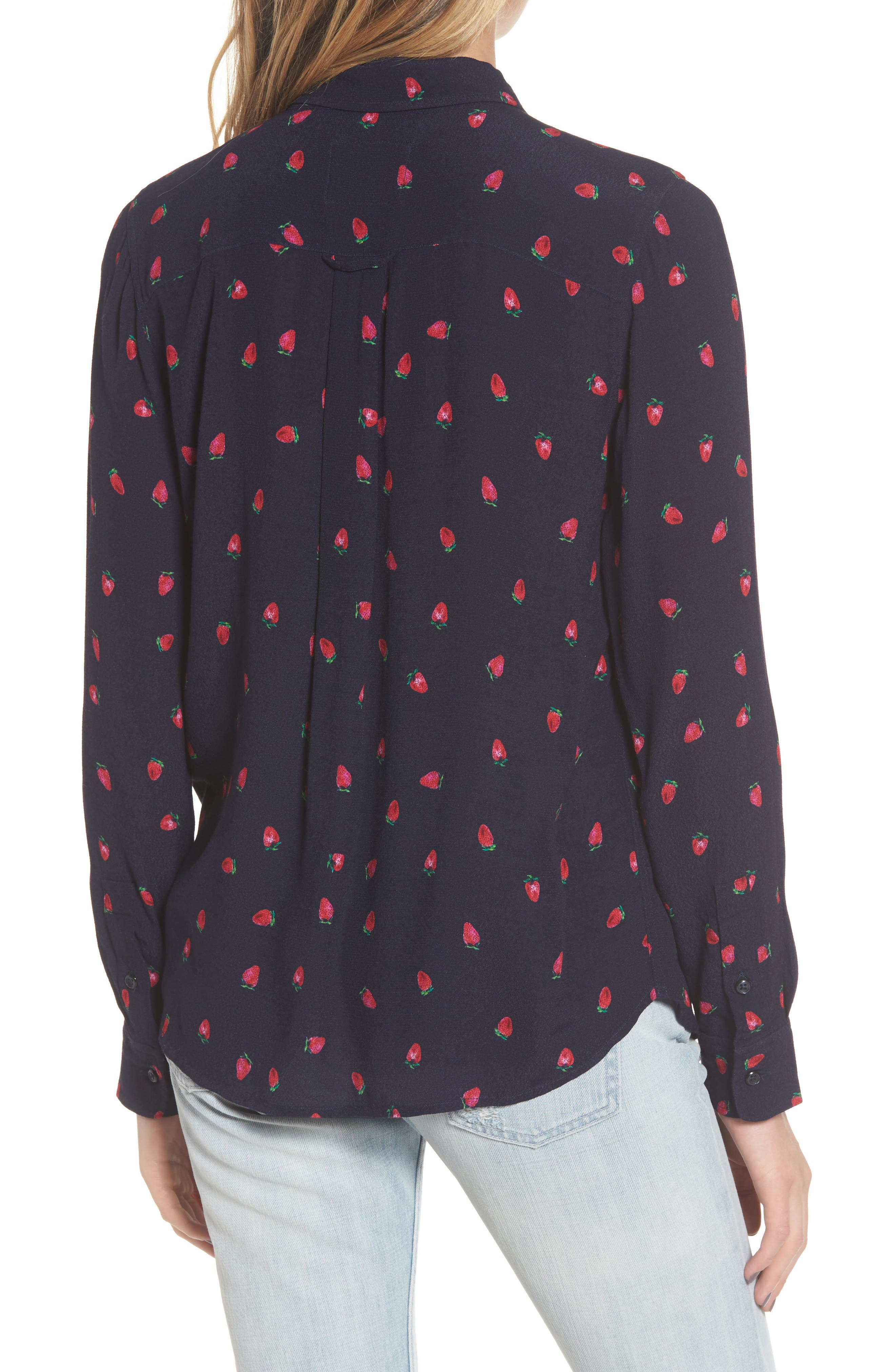 Kate Print Shirt,                             Alternate thumbnail 32, color,