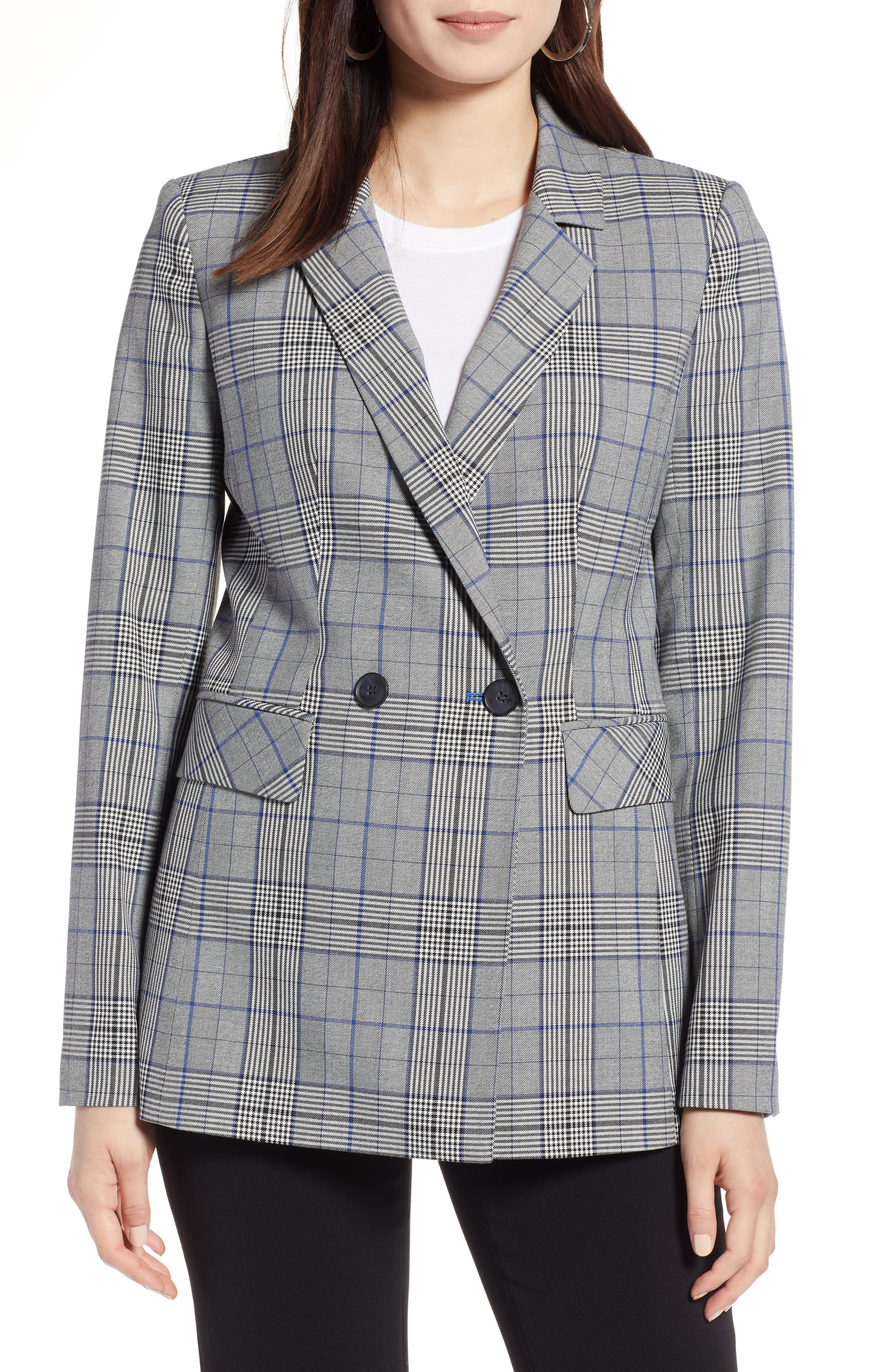 Double Breasted Blazer,                         Main,                         color, 001