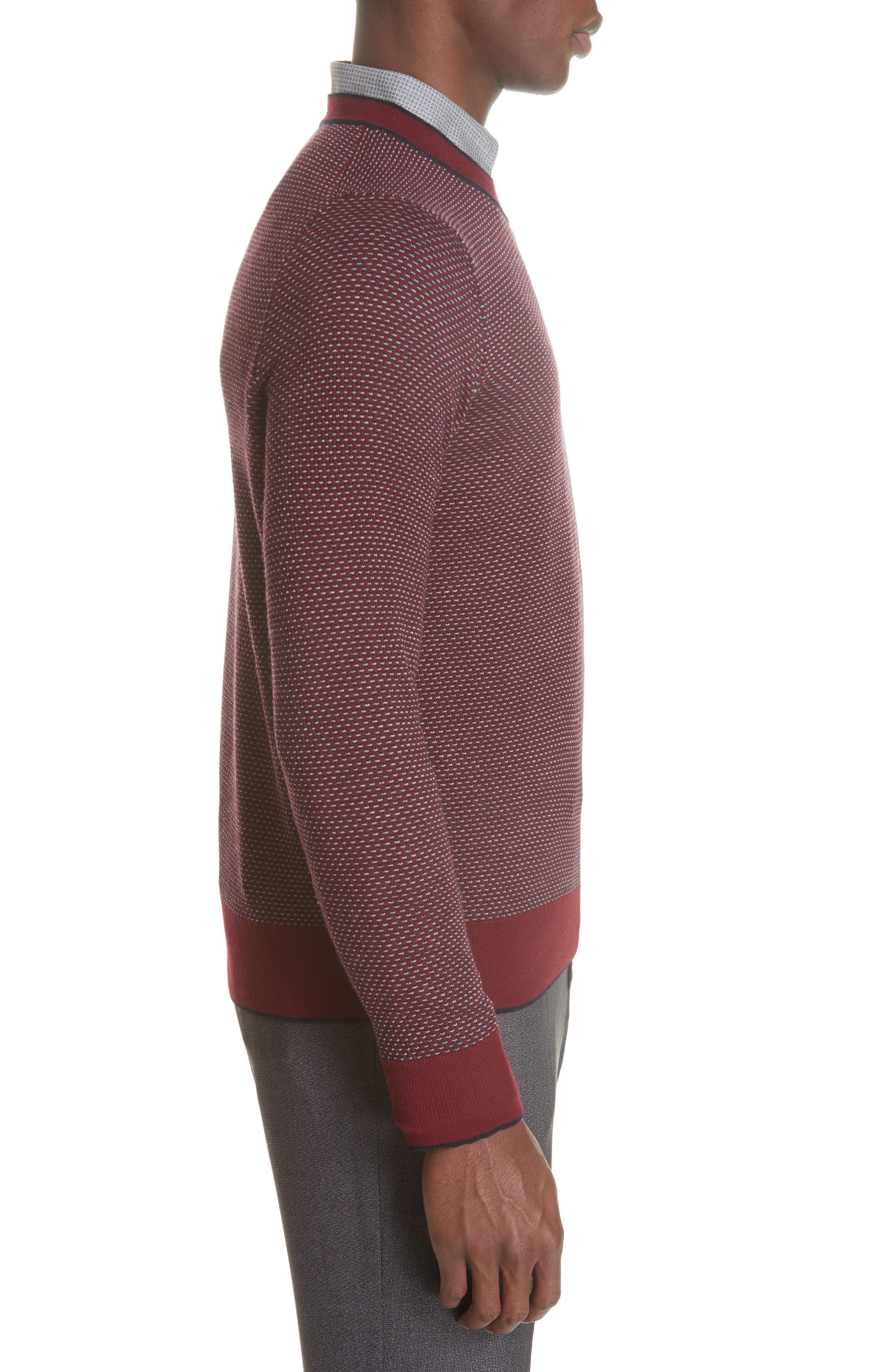 Crewneck Wool Sweater,                             Alternate thumbnail 3, color,                             600