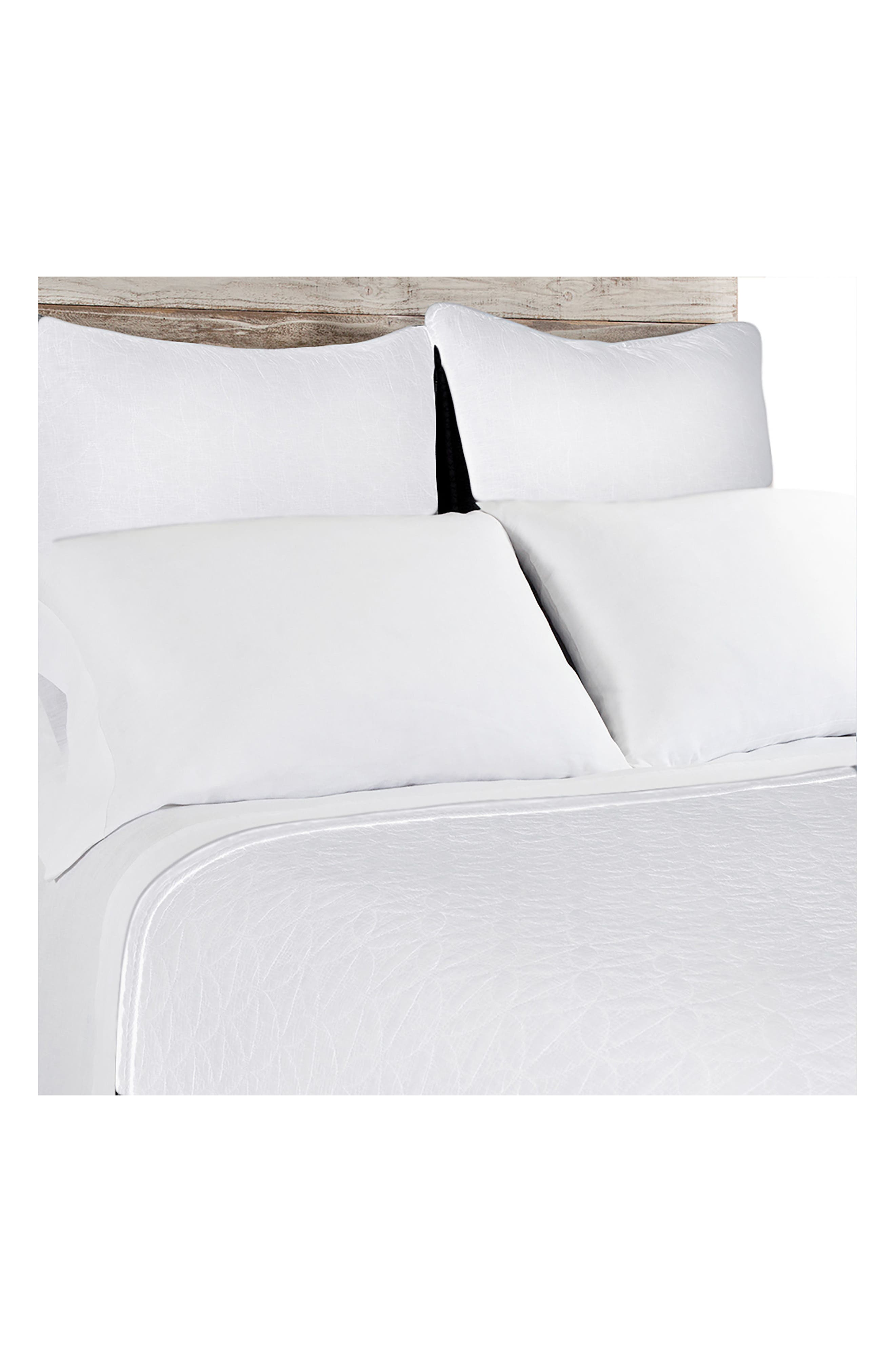 Oslo Coverlet,                         Main,                         color, WHITE