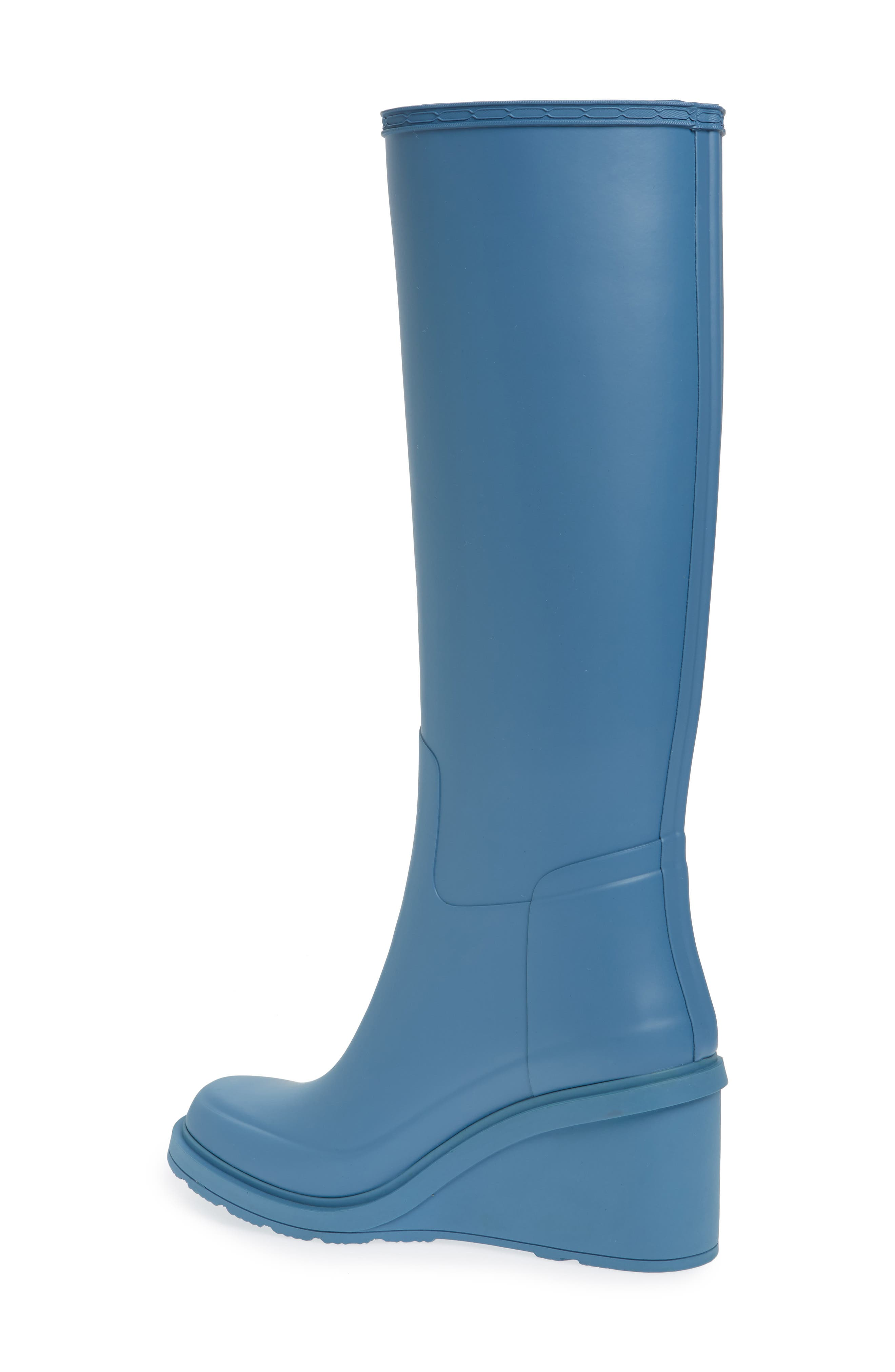 Original Refined Wedge Rain Boot,                             Alternate thumbnail 7, color,
