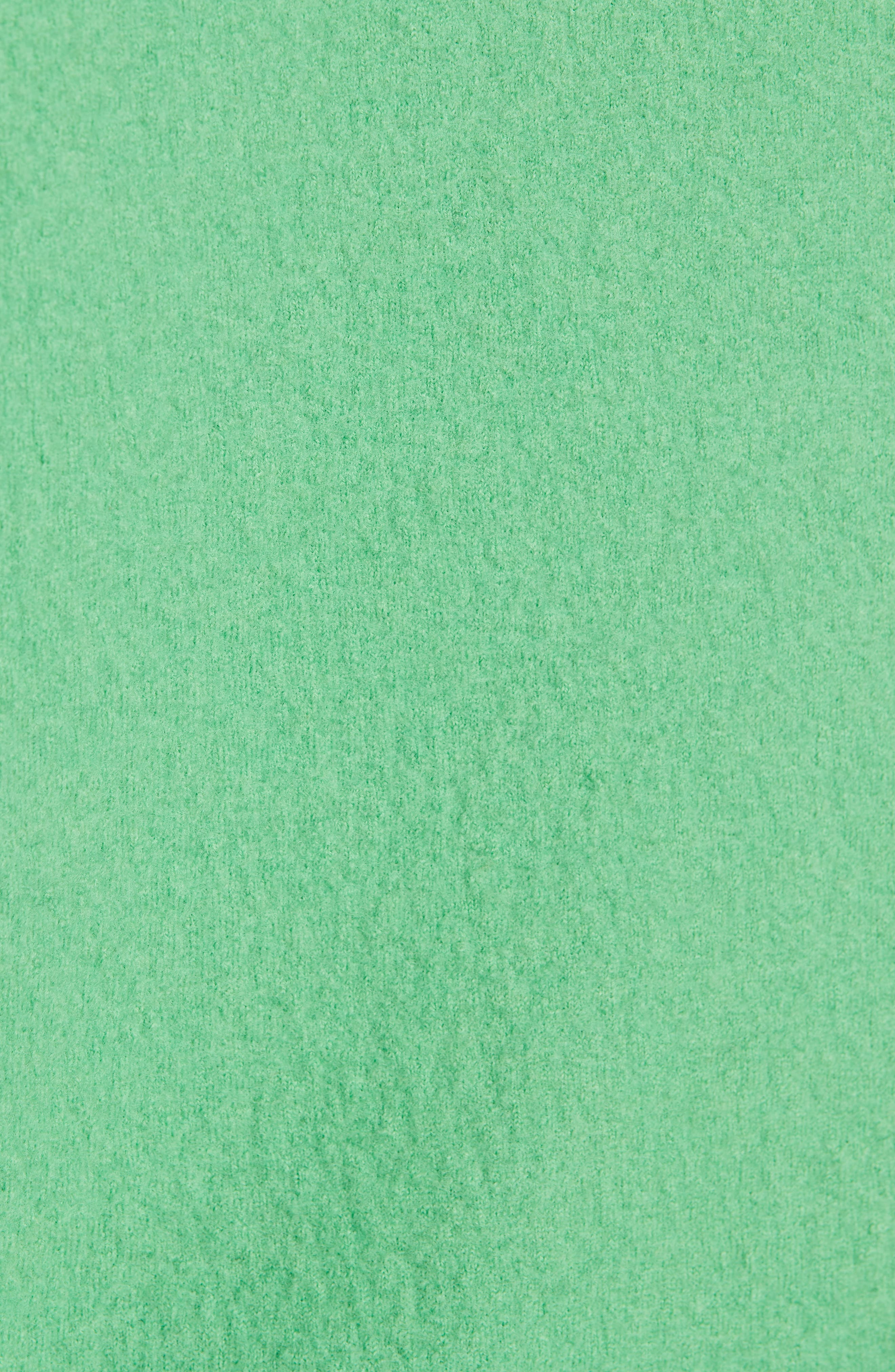 Bicolor Boiled Wool Sweater,                             Alternate thumbnail 5, color,                             BLACK/ GREEN