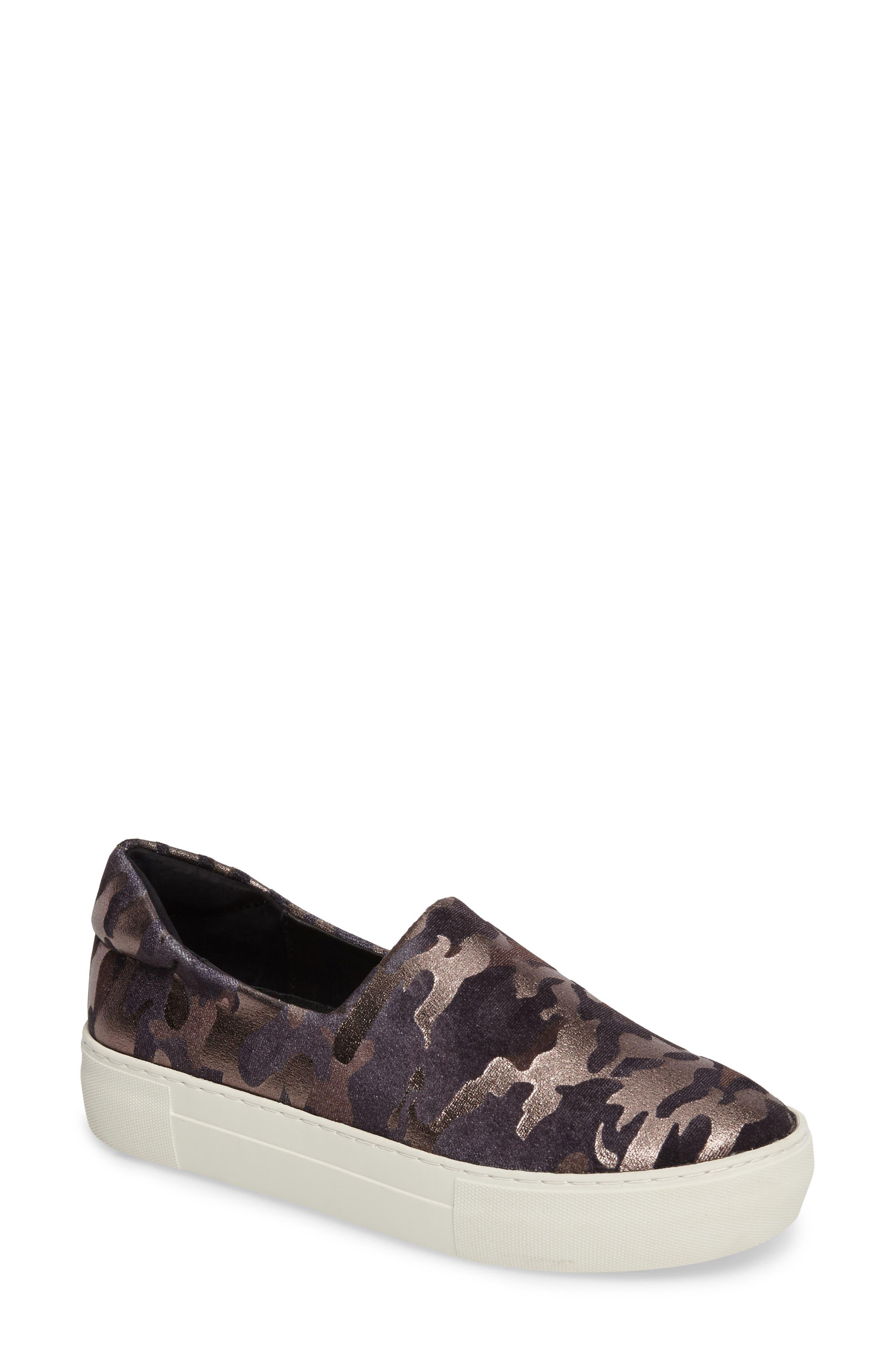 JSLIDES,                             'Ariana' Platform Sneaker,                             Main thumbnail 1, color,                             001