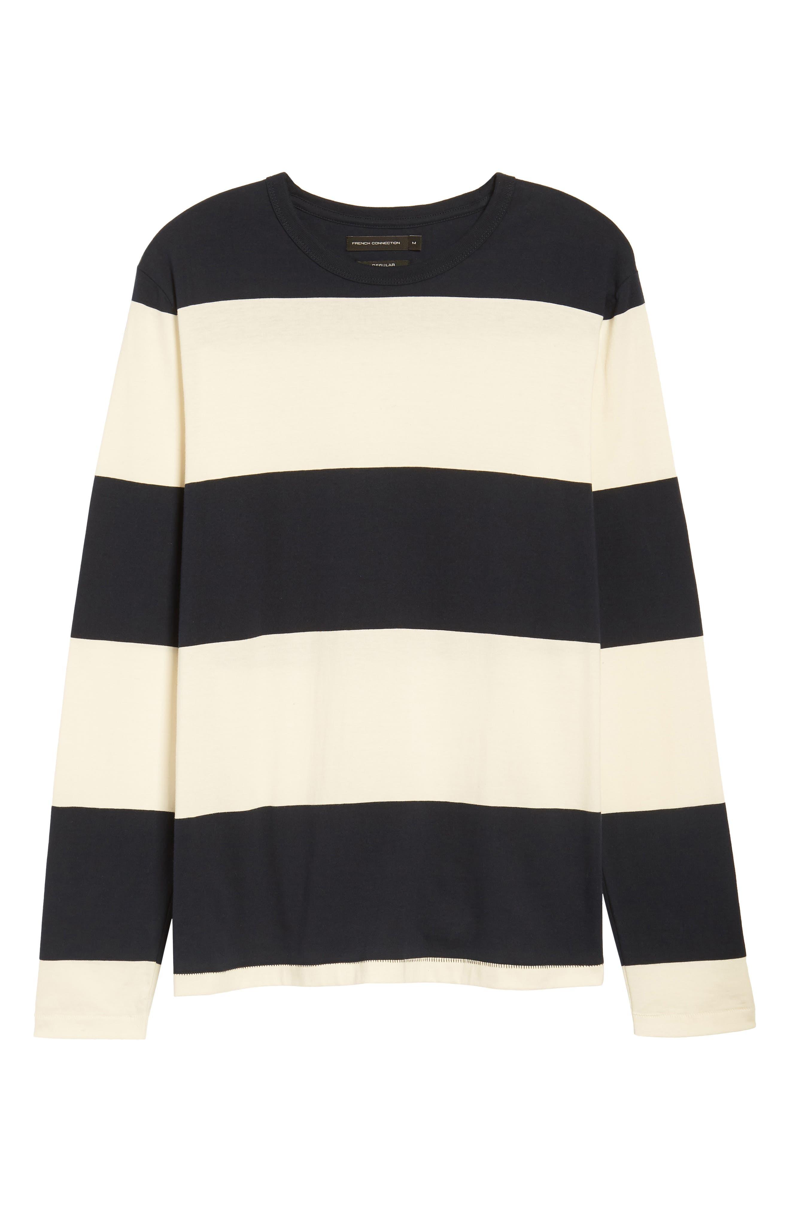 Regular Fit Block Stripe Shirt,                             Alternate thumbnail 6, color,                             100
