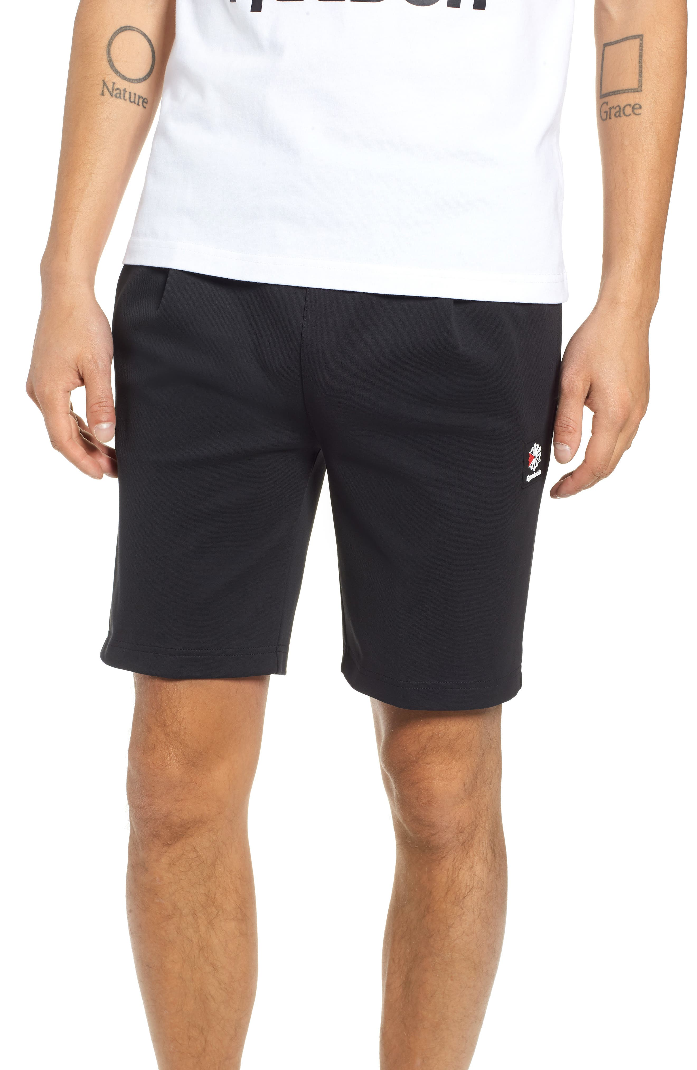 ES Shorts,                             Main thumbnail 1, color,                             BLACK