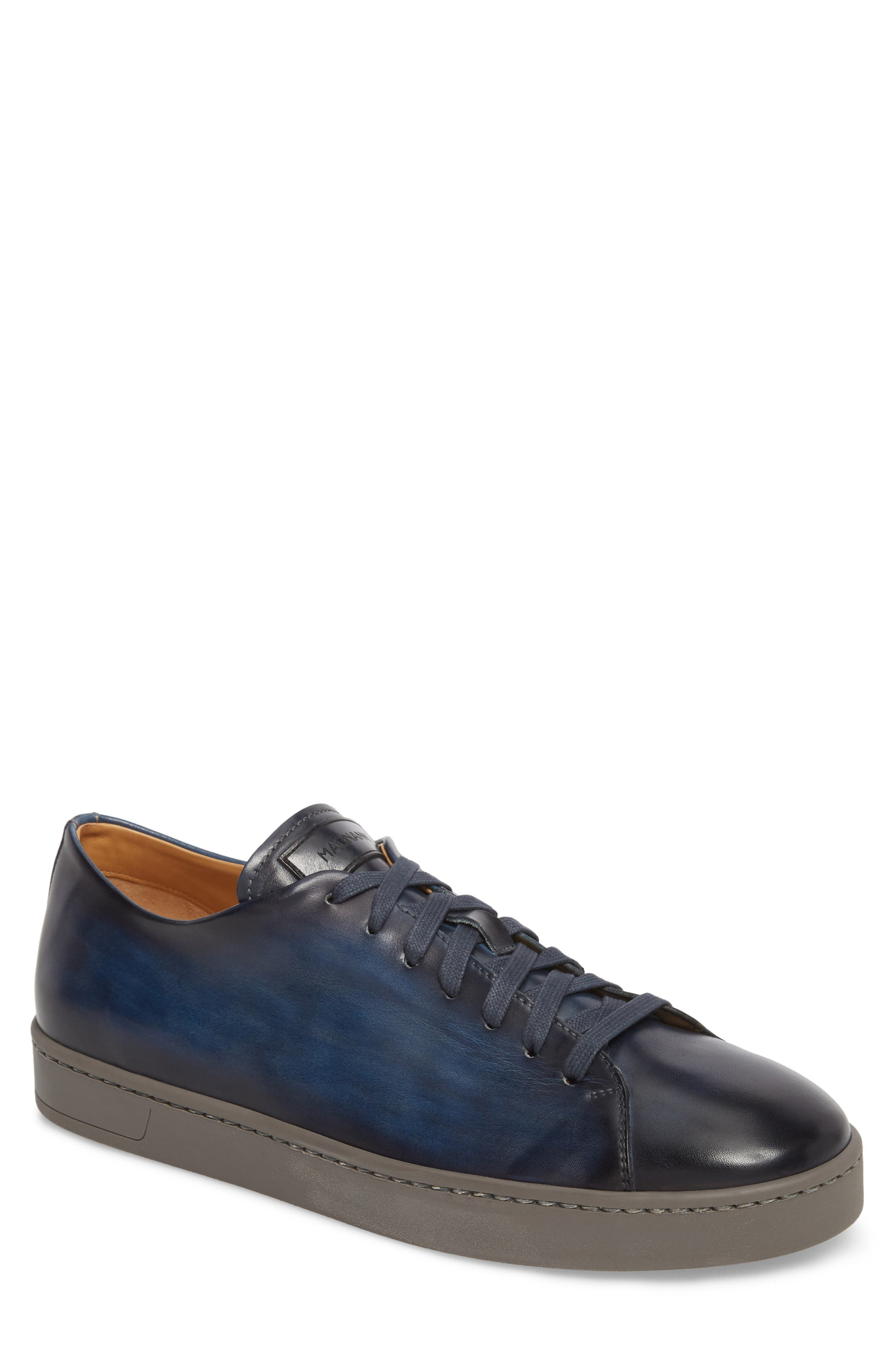 Belmont Lo Sneaker,                         Main,                         color, NAVY LEATHER
