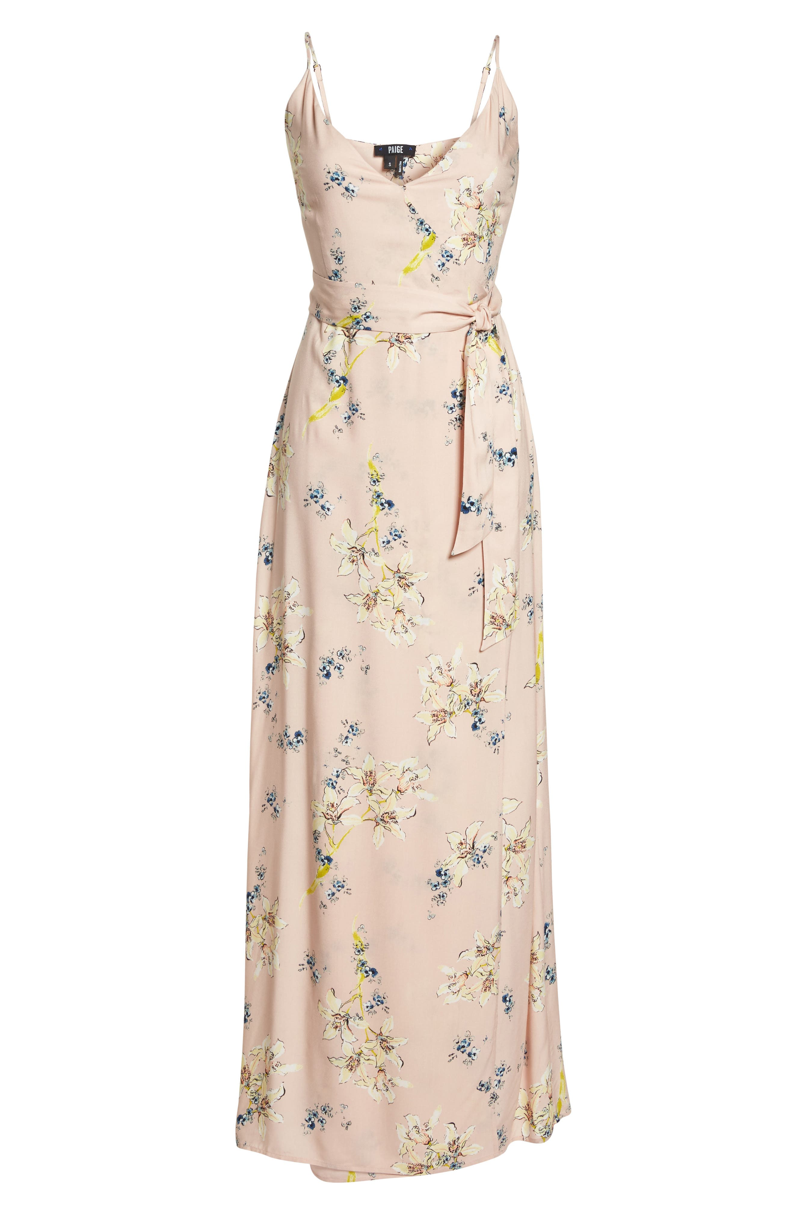 Regina Floral Print Maxi Dress,                             Alternate thumbnail 7, color,                             700