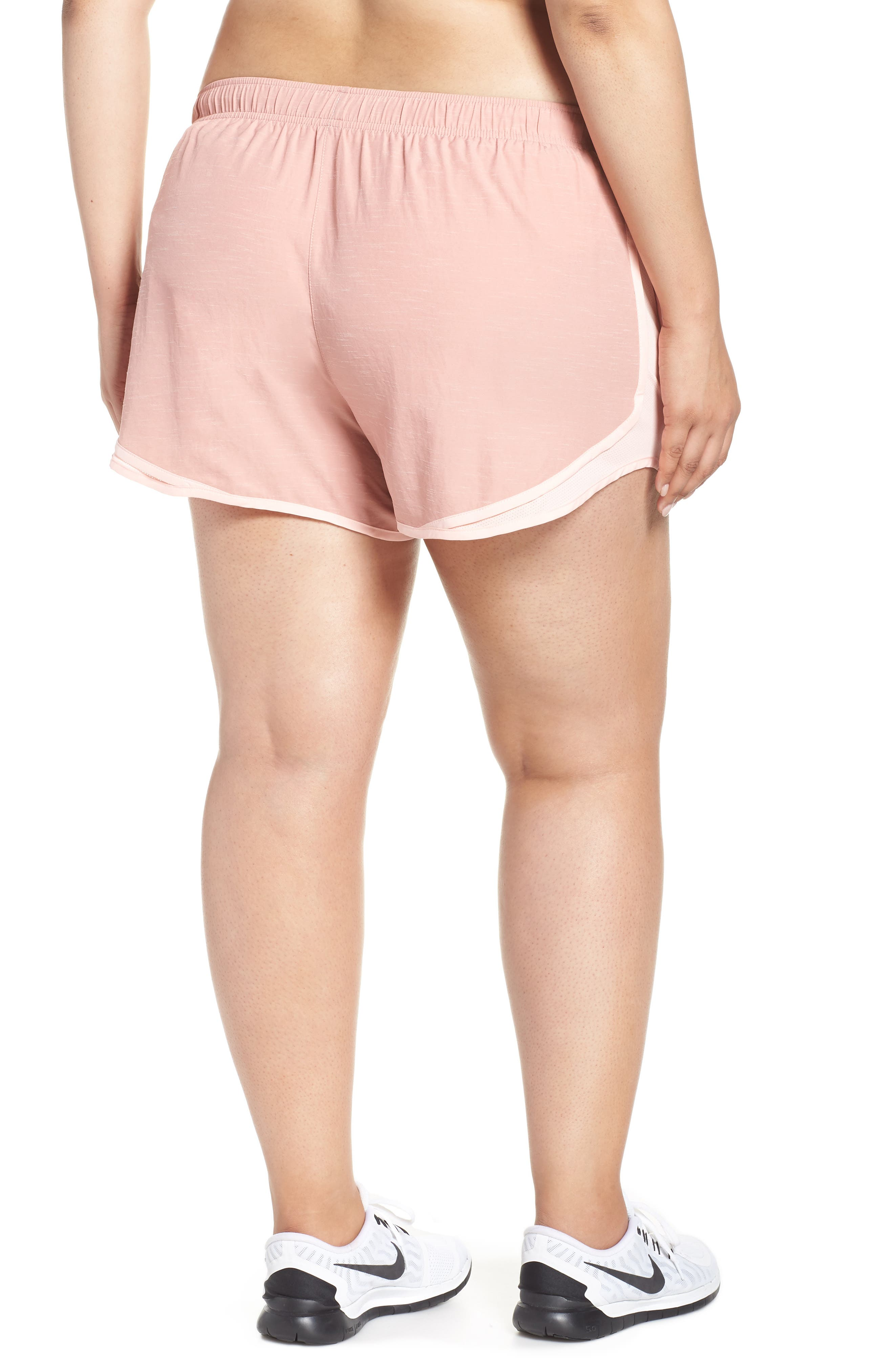 Dry Tempo High Rise Running Shorts,                             Alternate thumbnail 2, color,                             RUST PINK/ STORM PINK