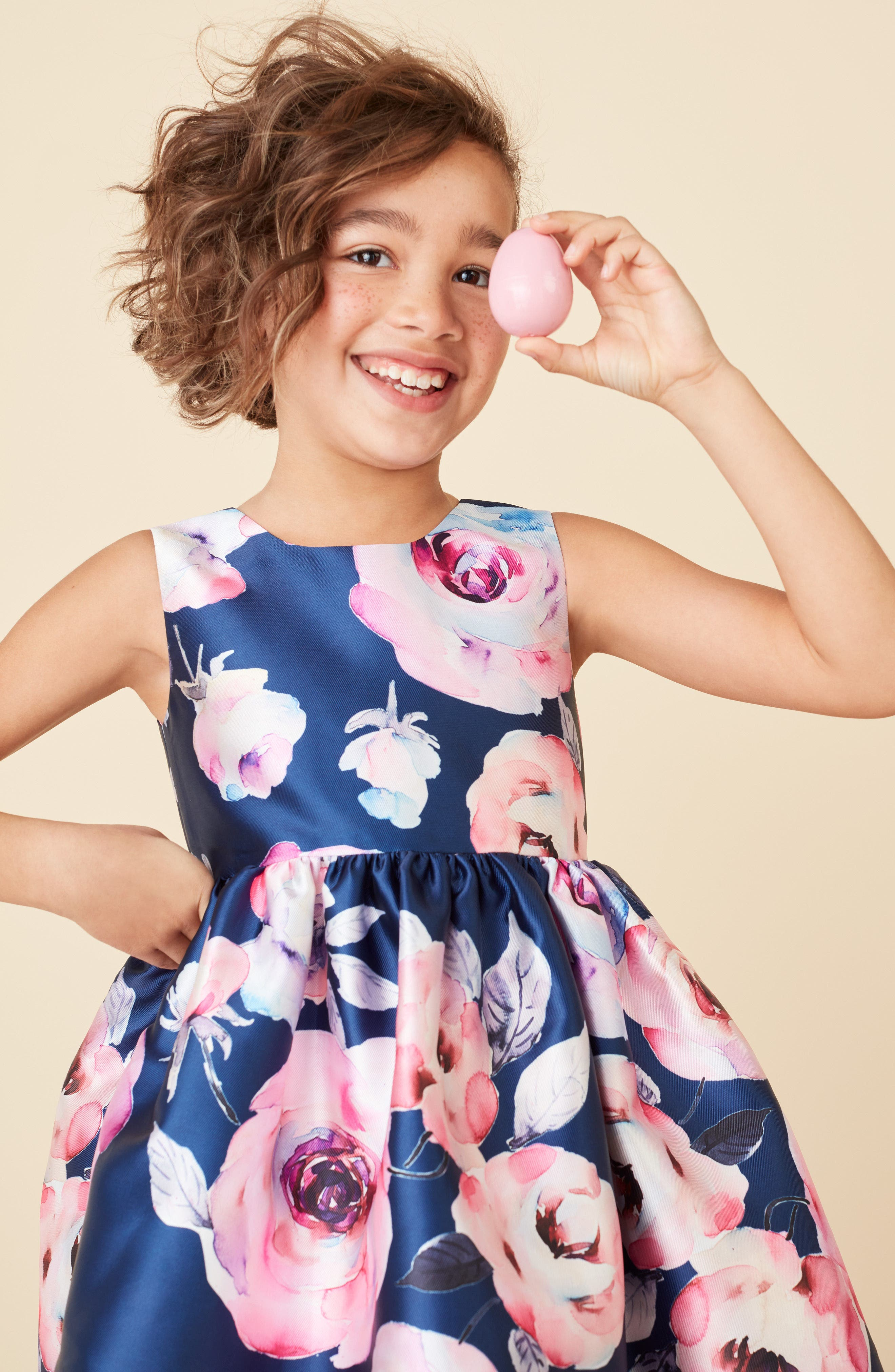 Floral Party Dress,                             Alternate thumbnail 4, color,                             410