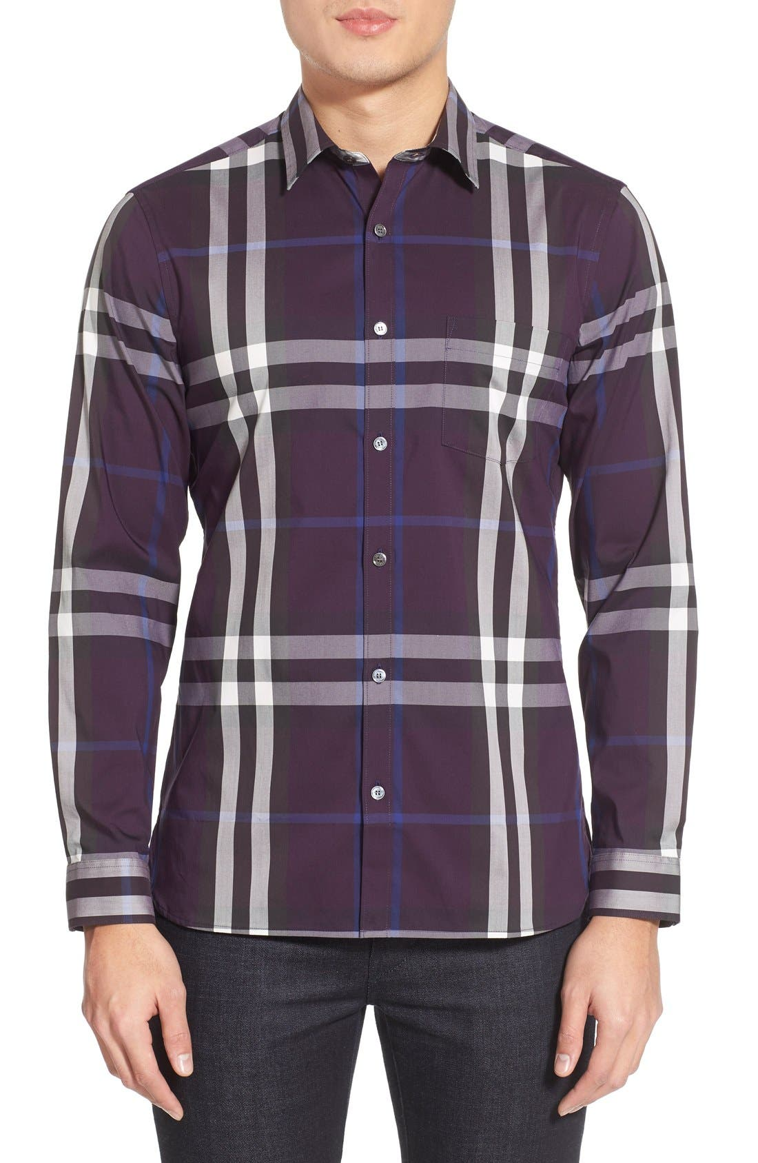 Nelson Check Sport Shirt,                             Main thumbnail 21, color,