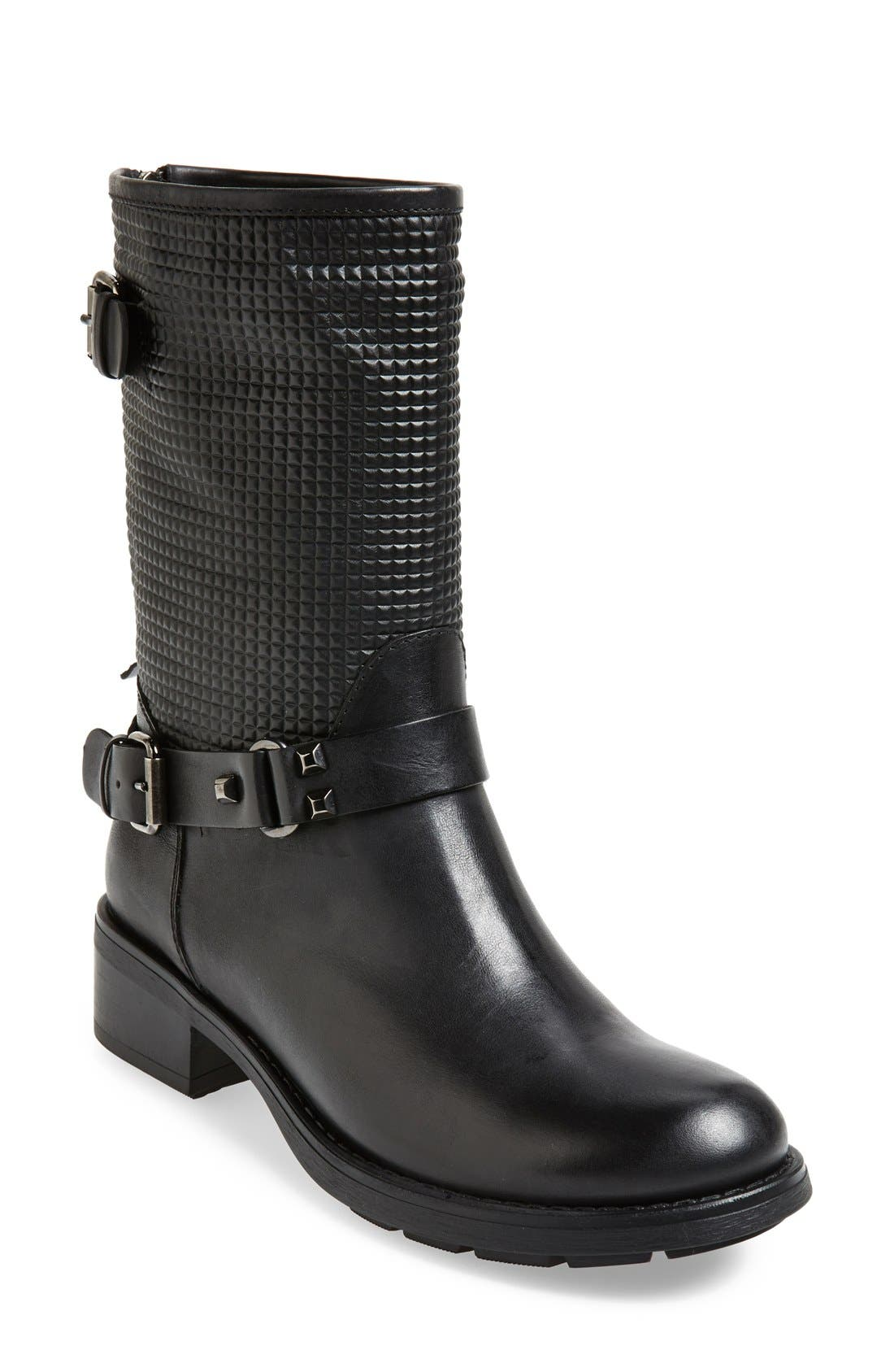by Marvin K. 'Scout' Weatherproof Moto Boot,                             Main thumbnail 1, color,                             001
